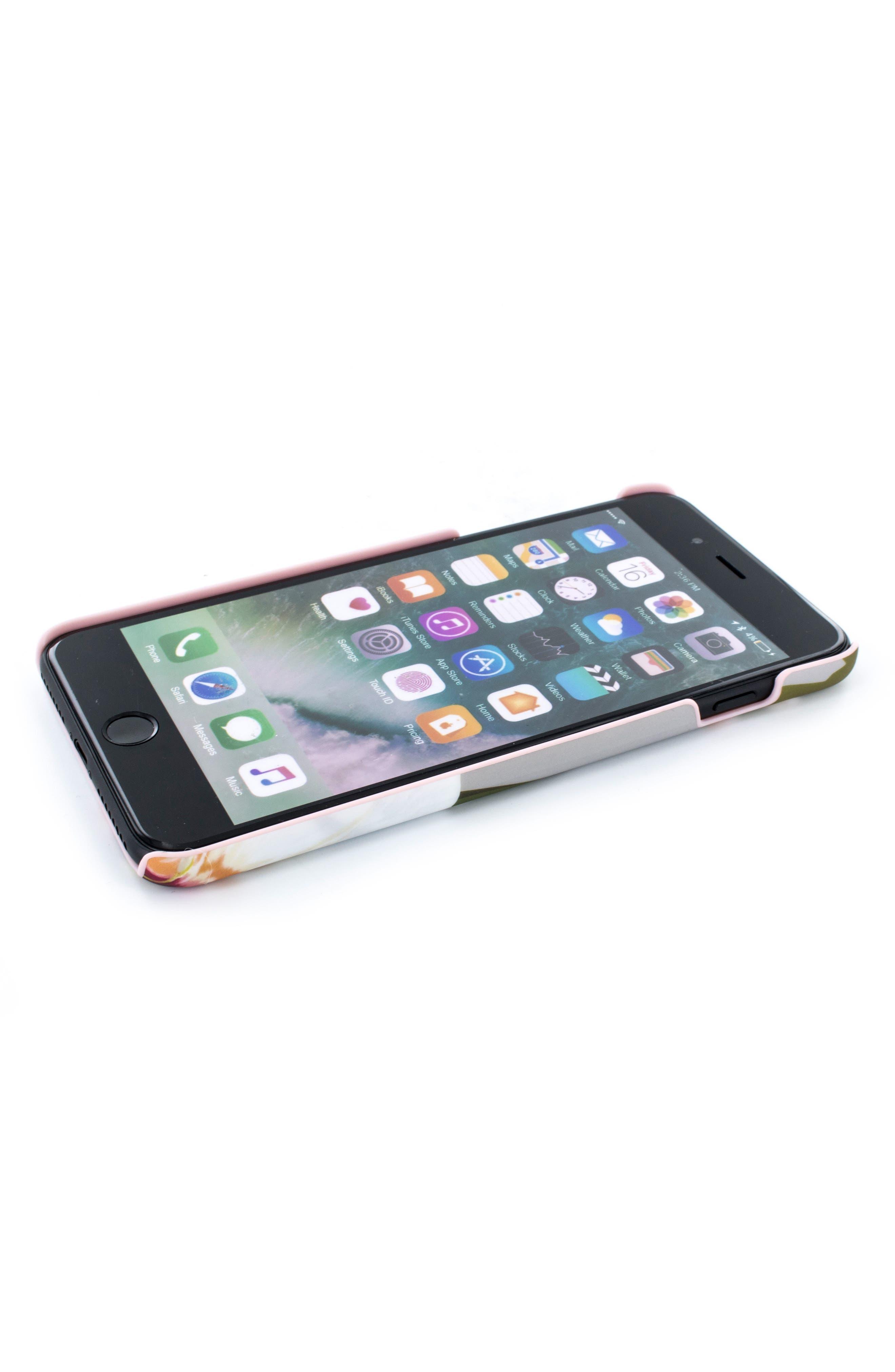 Auriole Chatsworth Bloom iPhone 7/8 Plus Case,                         Main,                         color, GREY