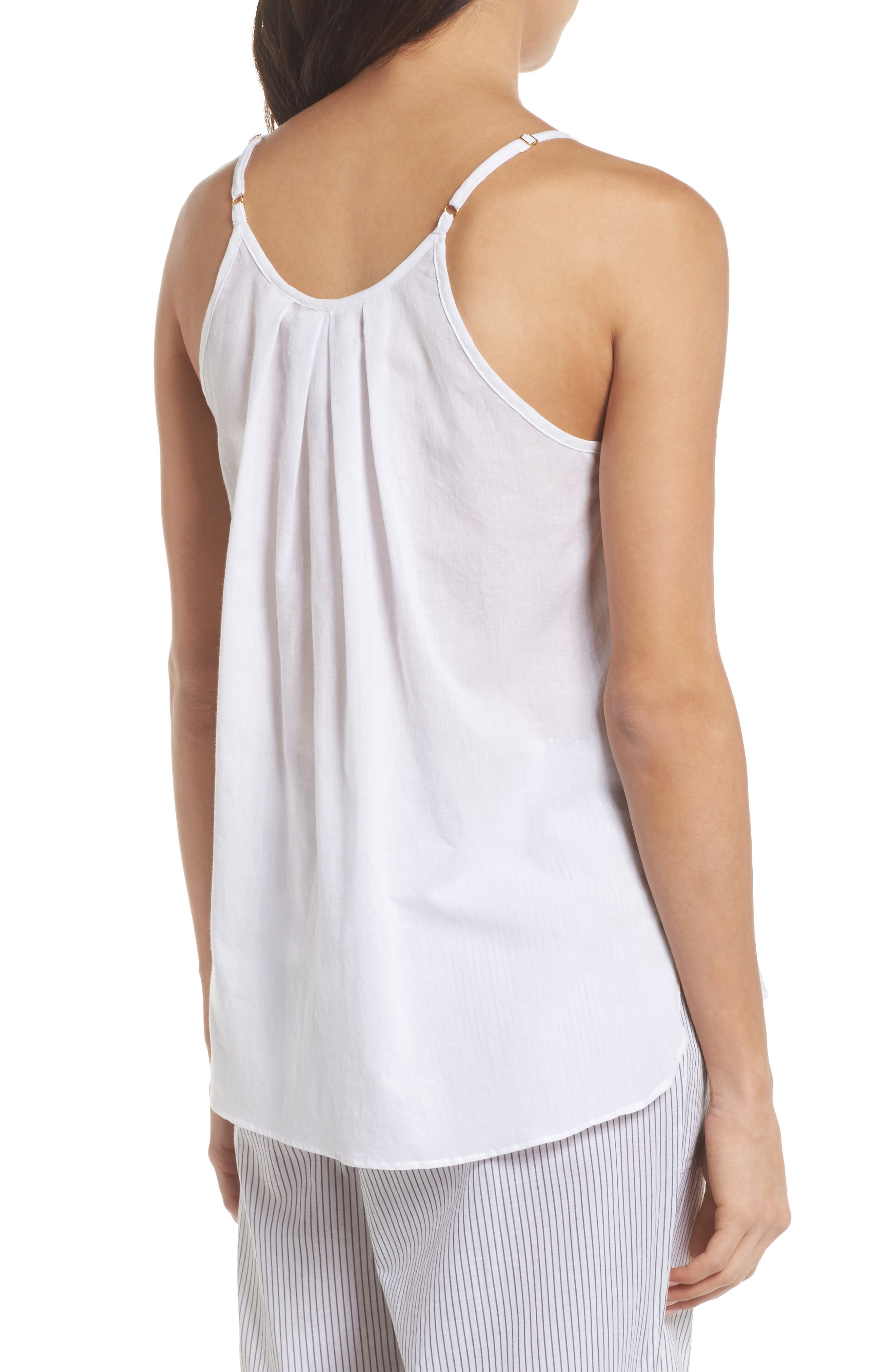 Cotton Voile Pleated Camisole,                             Alternate thumbnail 2, color,                             100