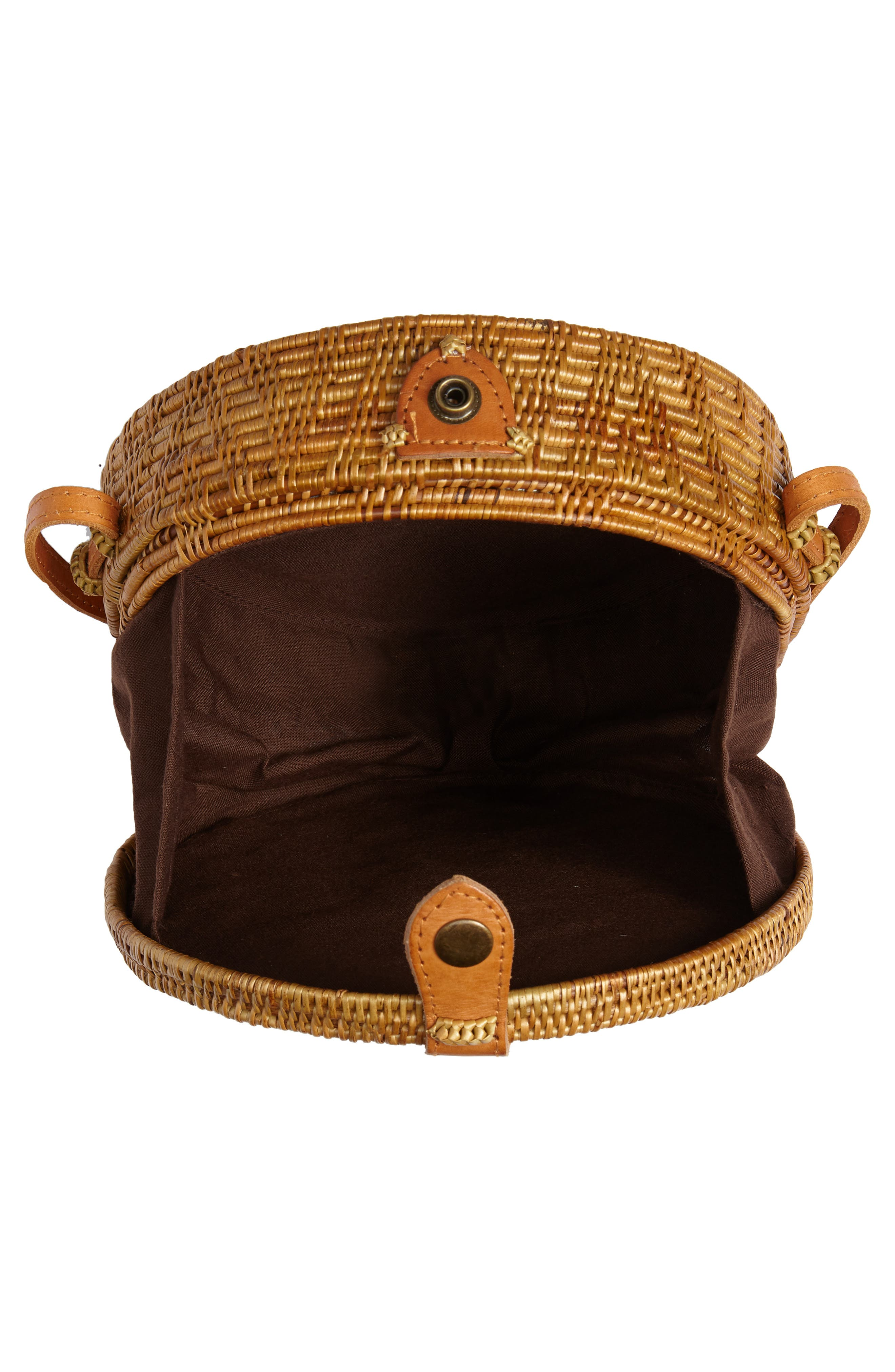 Woven Rattan Circle Basket Crossbody,                             Alternate thumbnail 4, color,                             200