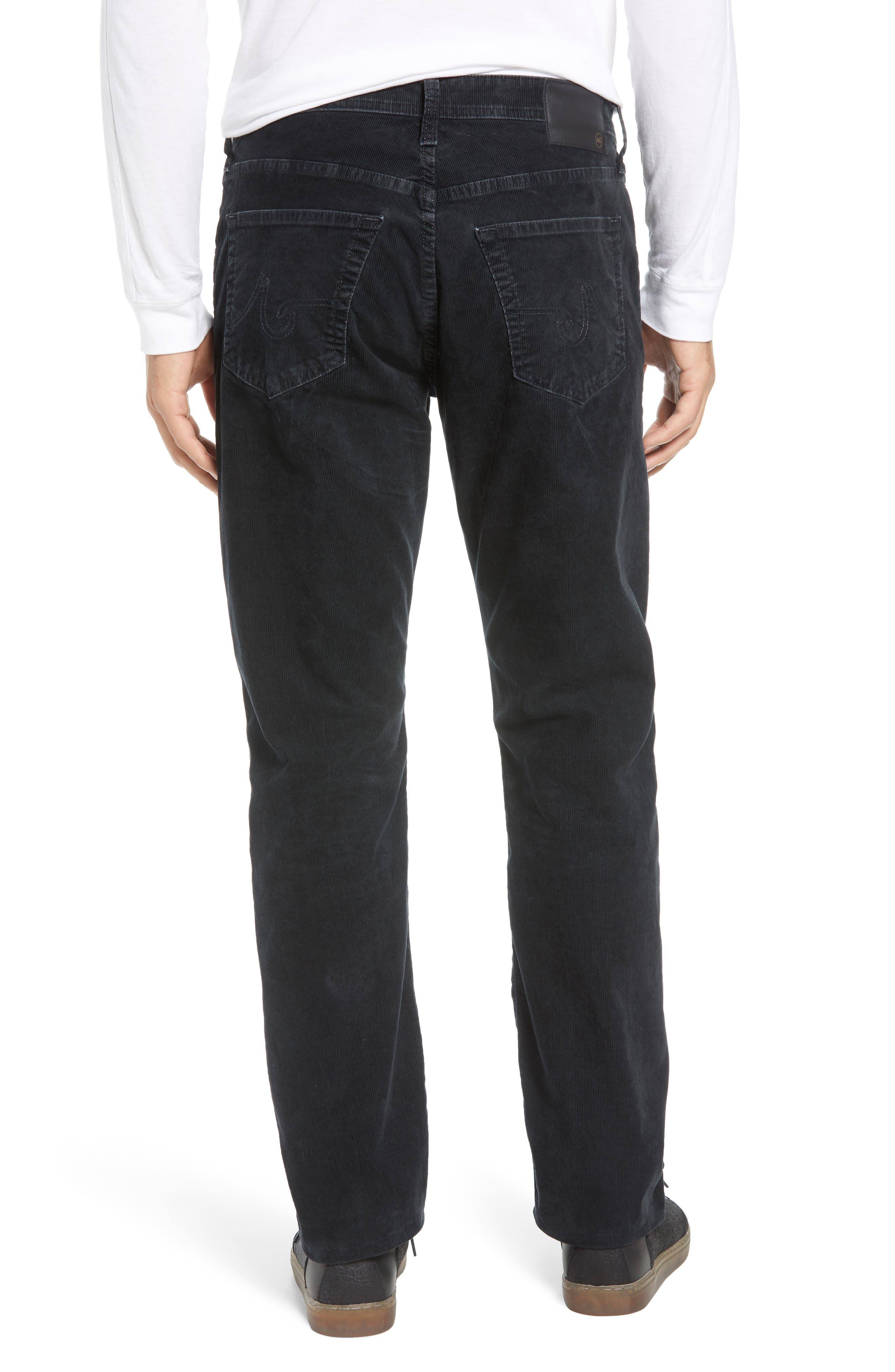 Everett Straight Leg Corduroy Pants,                             Alternate thumbnail 2, color,                             SULFUR ASH BLACK