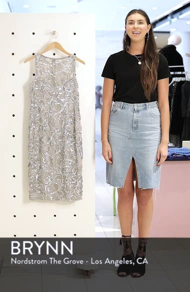 Floral Sequin Sheath Dress, sales video thumbnail