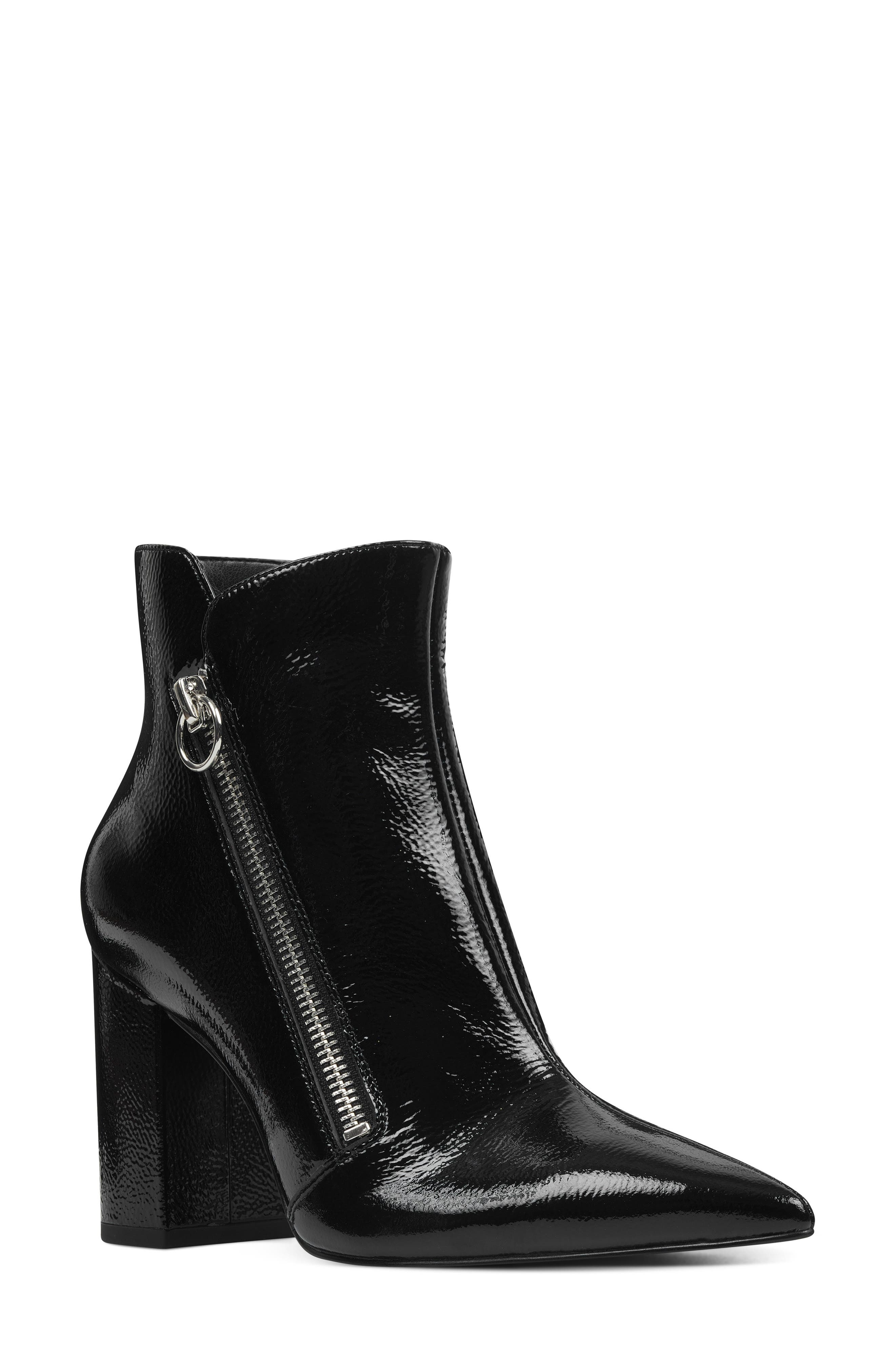 Nine West Russity Angle Zip Bootie, Black