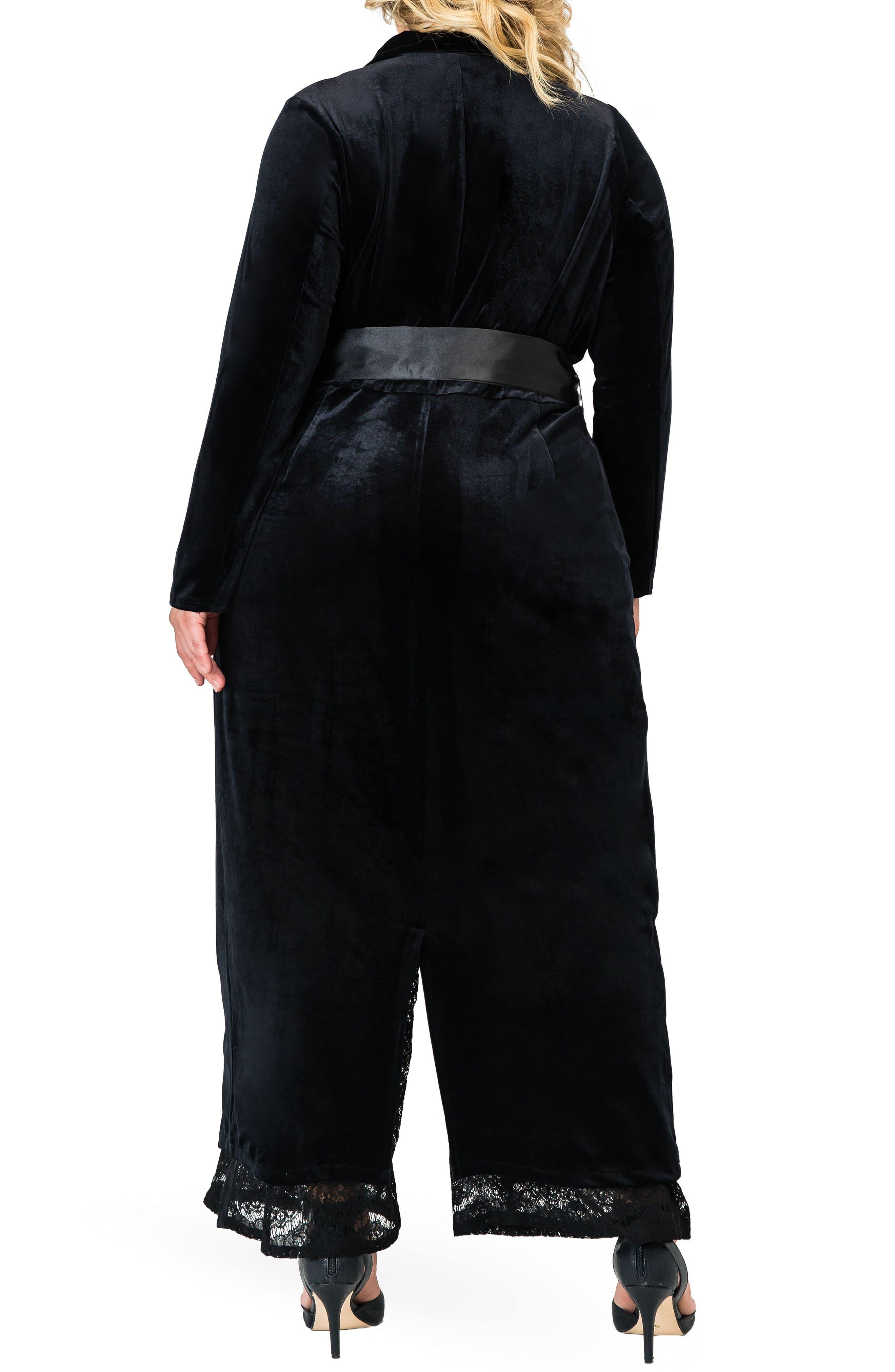 STANDARDS & PRACTICES,                             Freya Wrap Coat Dress,                             Alternate thumbnail 2, color,                             BLACK