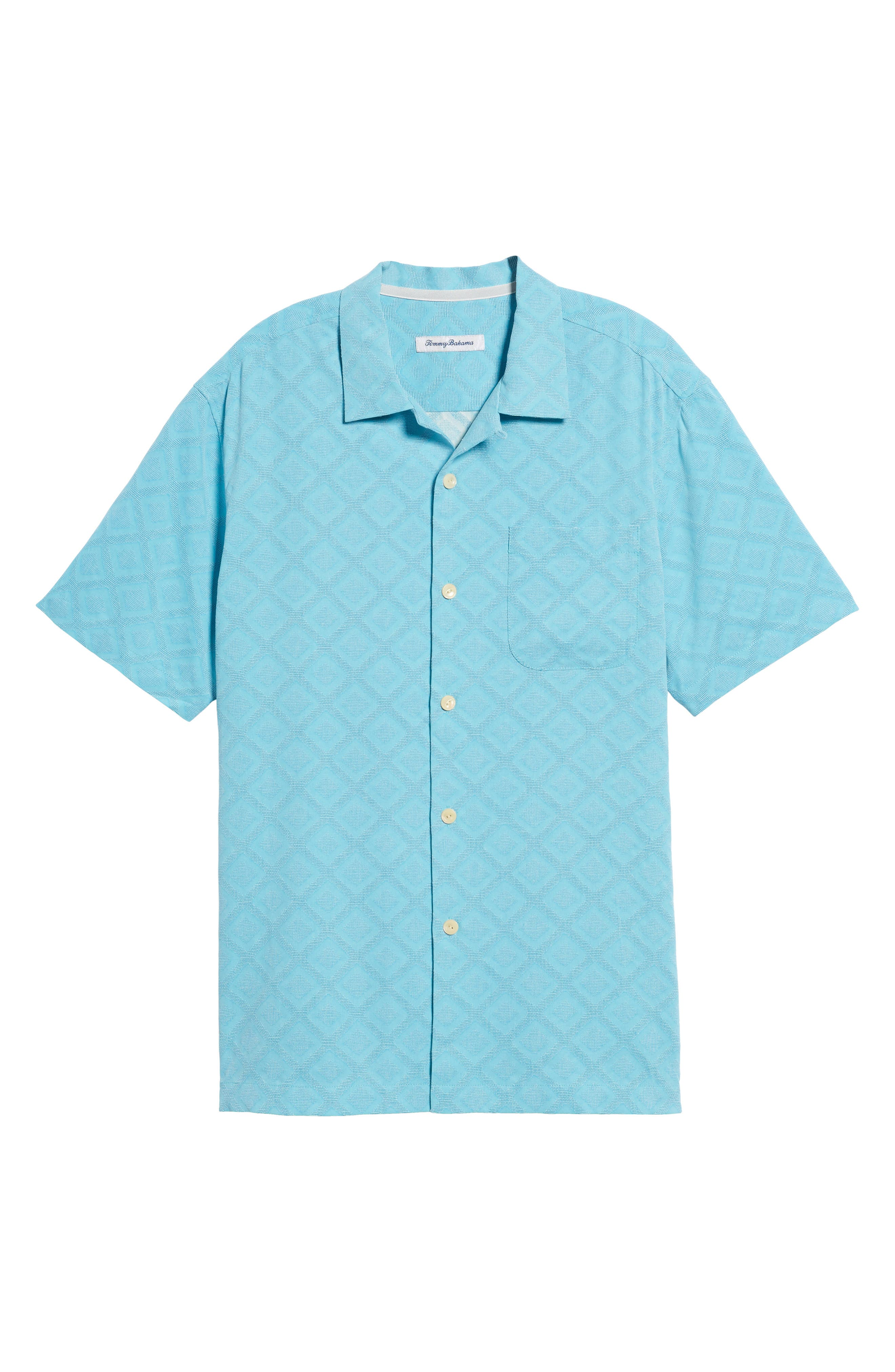 Solid Diamond Isle Silk Sport Shirt,                             Alternate thumbnail 12, color,