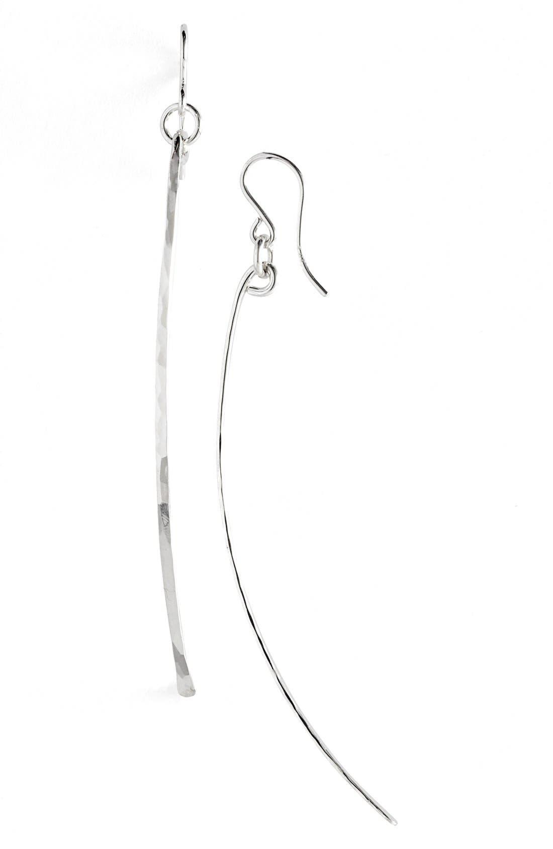 Ija Twig Drop Earrings,                             Main thumbnail 1, color,                             STERLING SILVER
