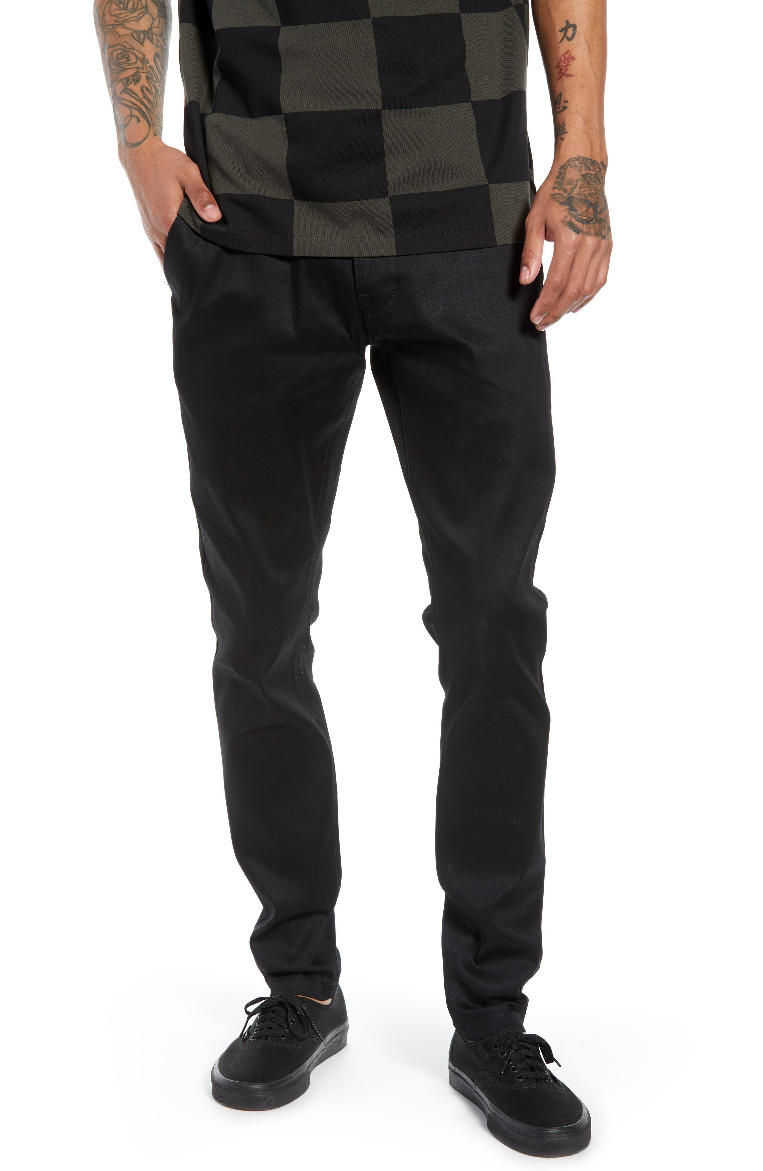 Bronson Cilex Skinny Fit Chinos,                         Main,                         color, RAW DENIM