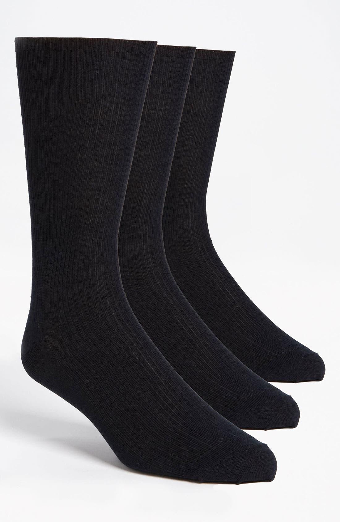 Cotton Blend Dress Socks,                             Main thumbnail 1, color,                             NAVY