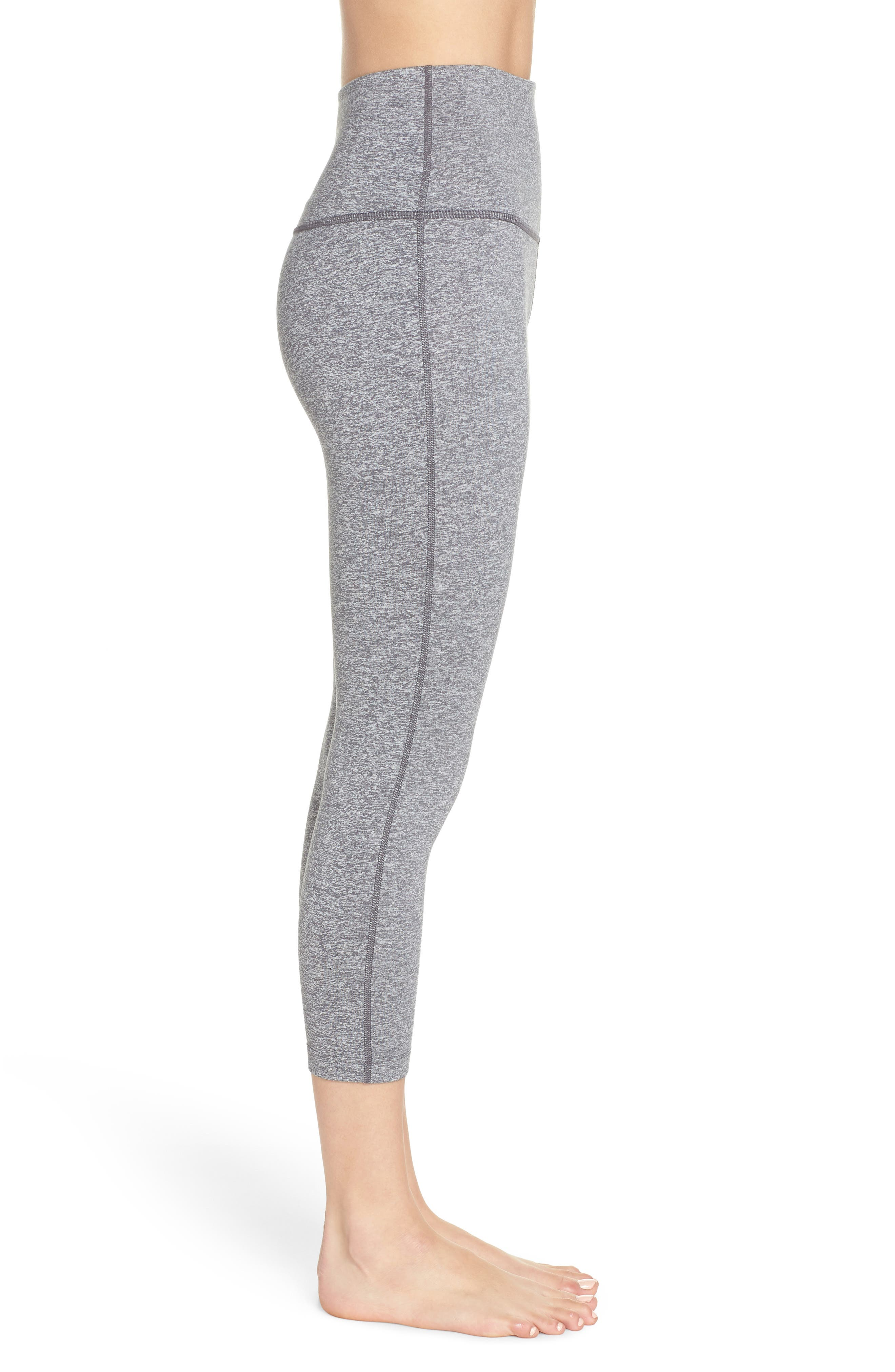 ZELLA,                             Live In High Waist Crop Leggings,                             Alternate thumbnail 3, color,                             030