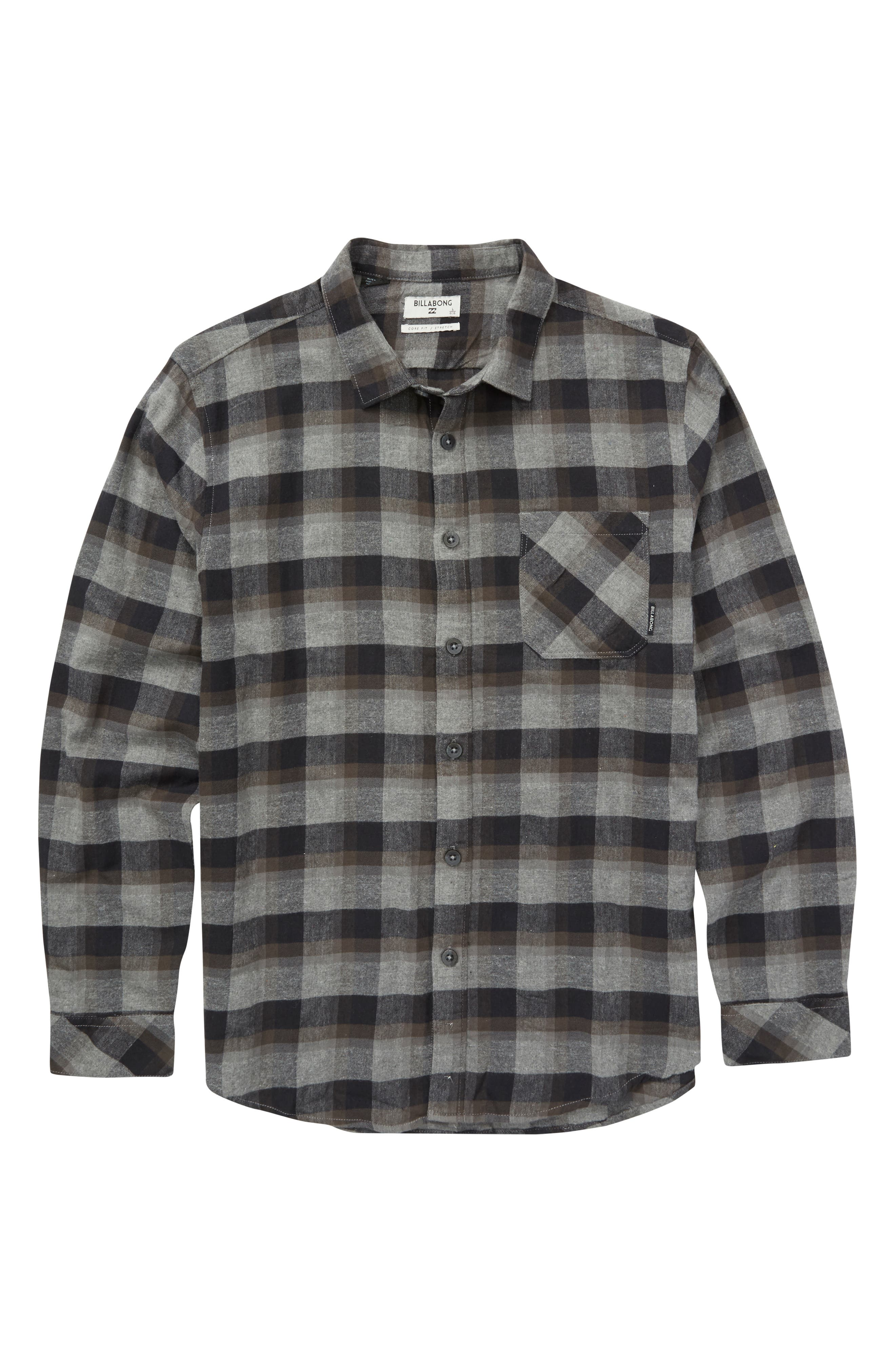 Freemont Flannel Shirt,                         Main,                         color, BLACK