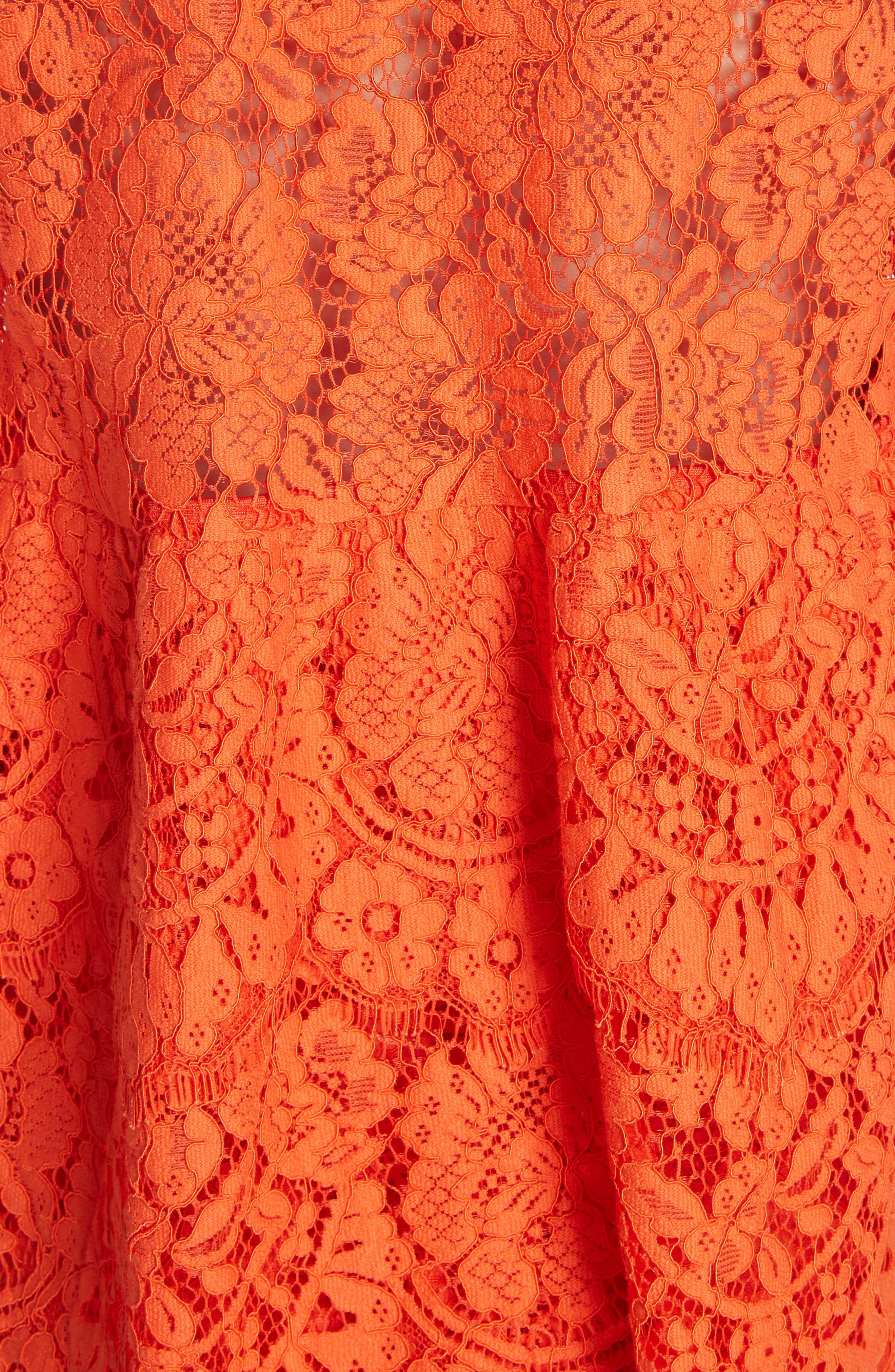 Jerome Lace Top,                             Alternate thumbnail 5, color,                             BIG APPLE RED