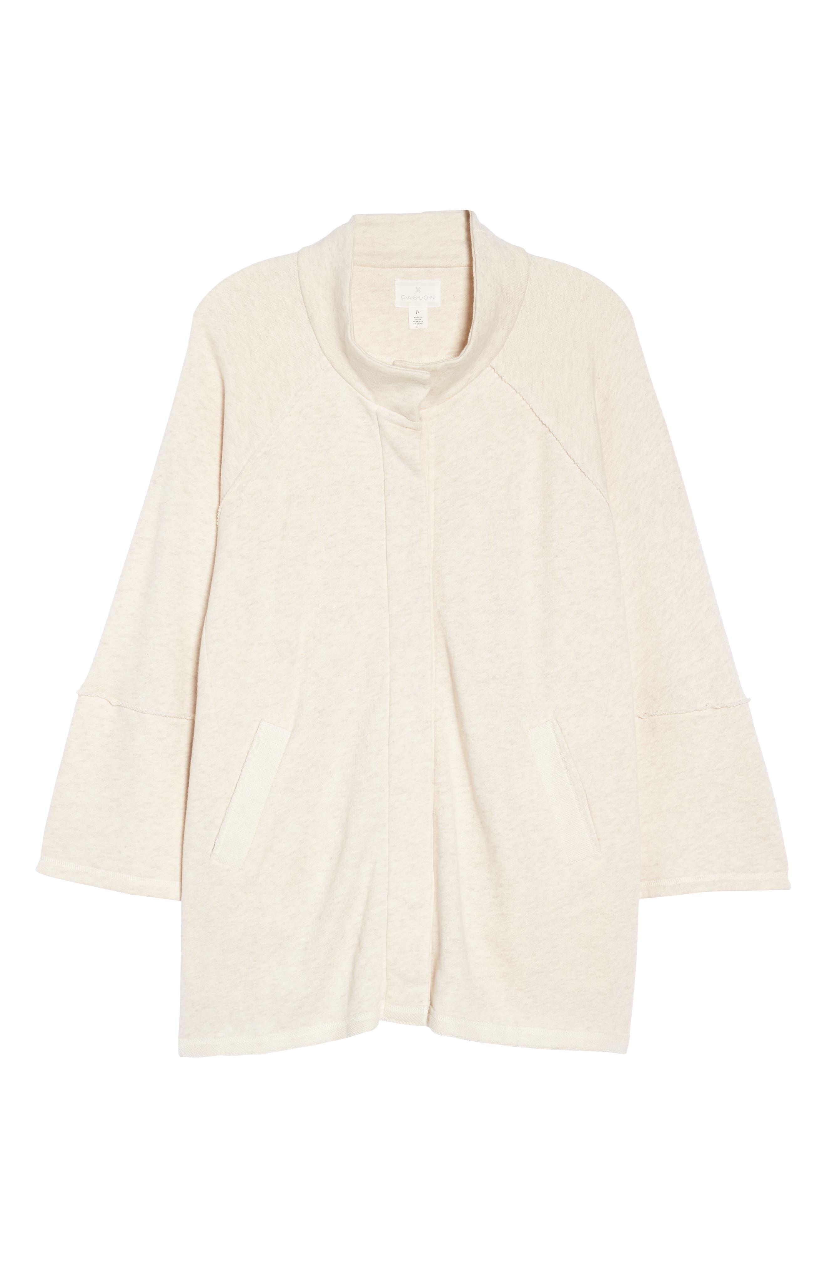 Button Front Knit Jacket,                             Alternate thumbnail 6, color,                             270