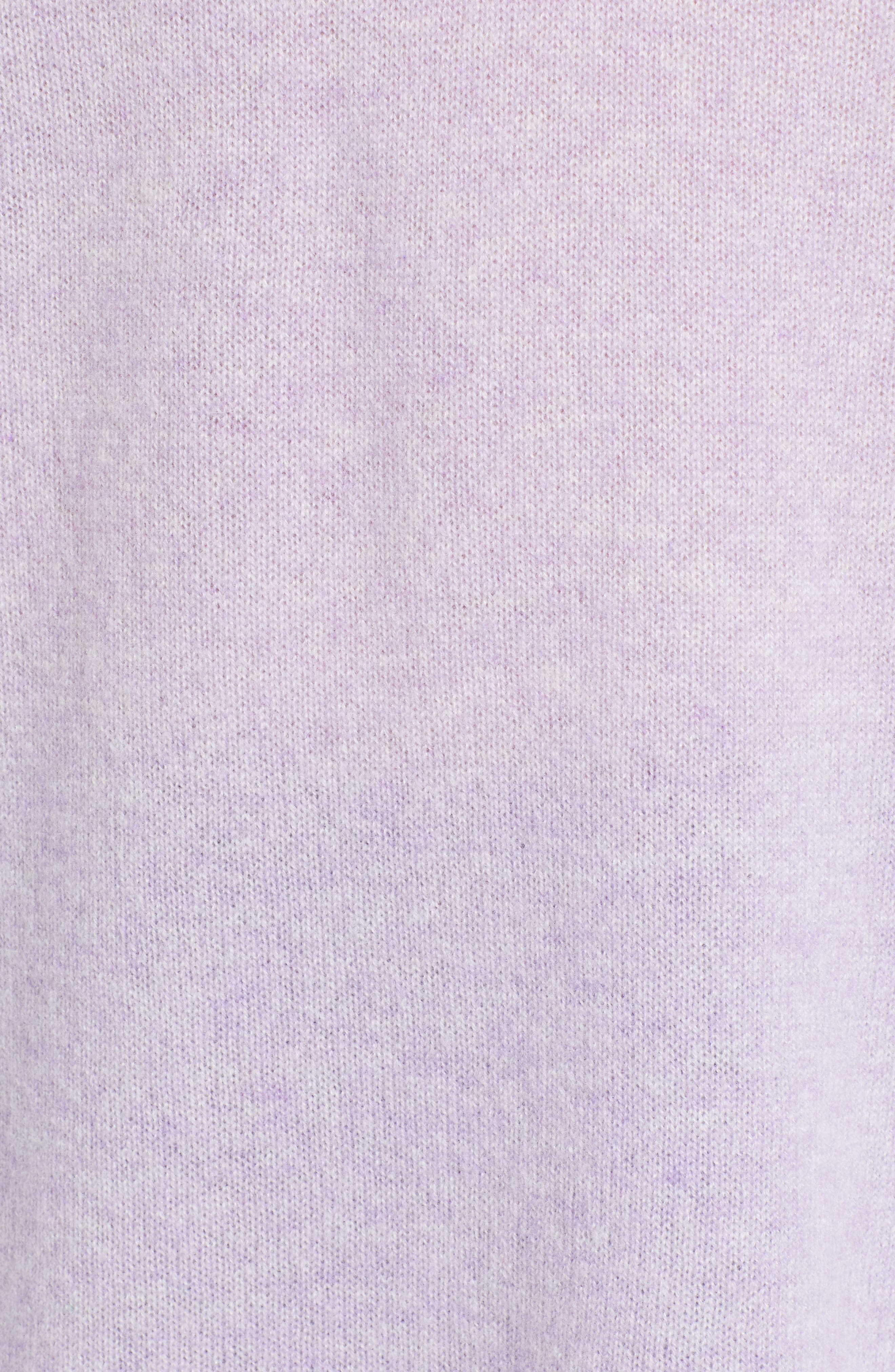 Relaxed V-Neck Cashmere Sweater,                             Alternate thumbnail 5, color,                             LAVENDER SWEET