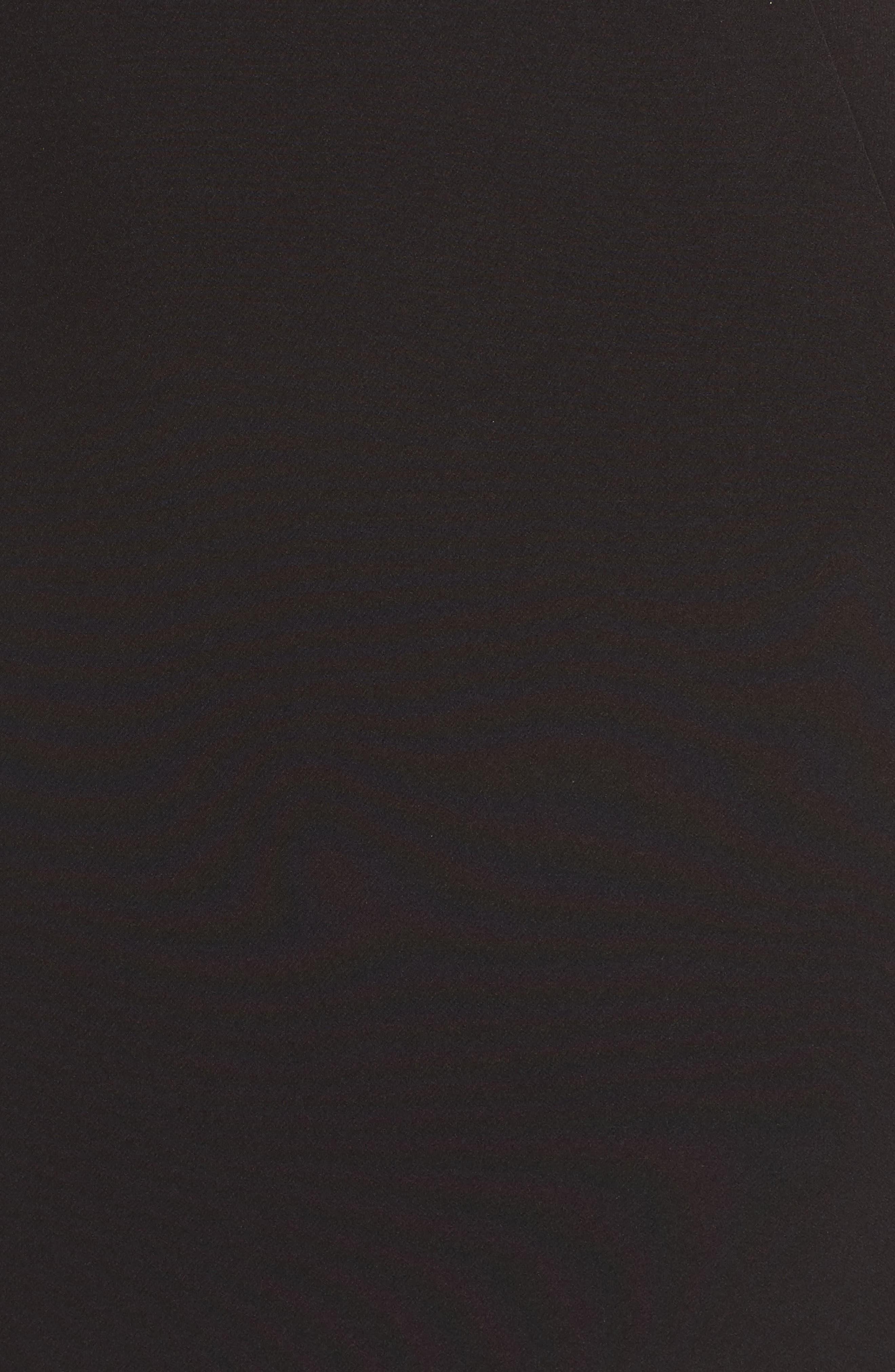 Ruffle Apron Detail Strapless Dress,                             Alternate thumbnail 6, color,                             001