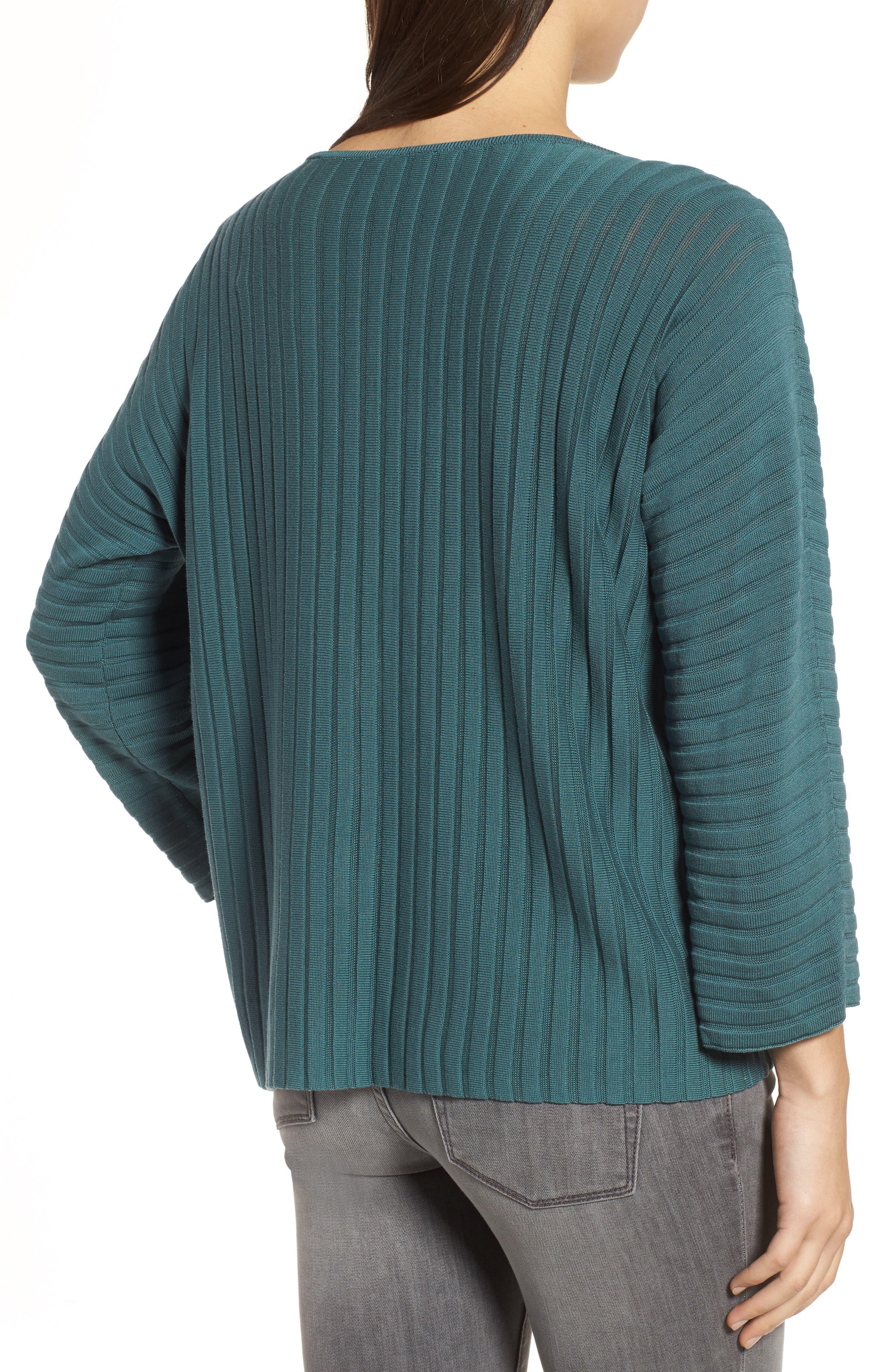 Ribbed Bateau Neck Sweater,                             Alternate thumbnail 7, color,