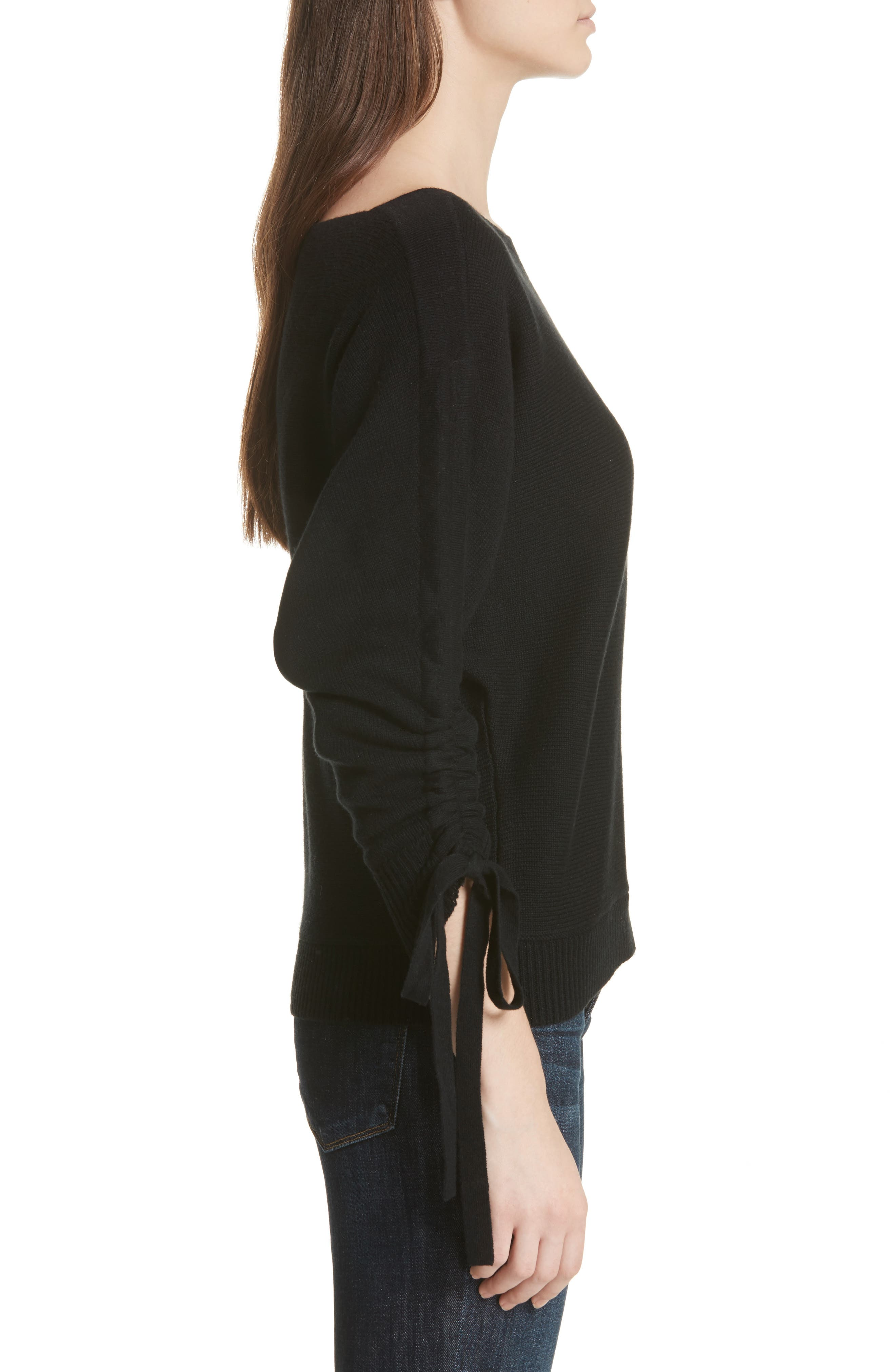 Dannee Wool & Cashmere Sweater,                             Alternate thumbnail 3, color,                             002