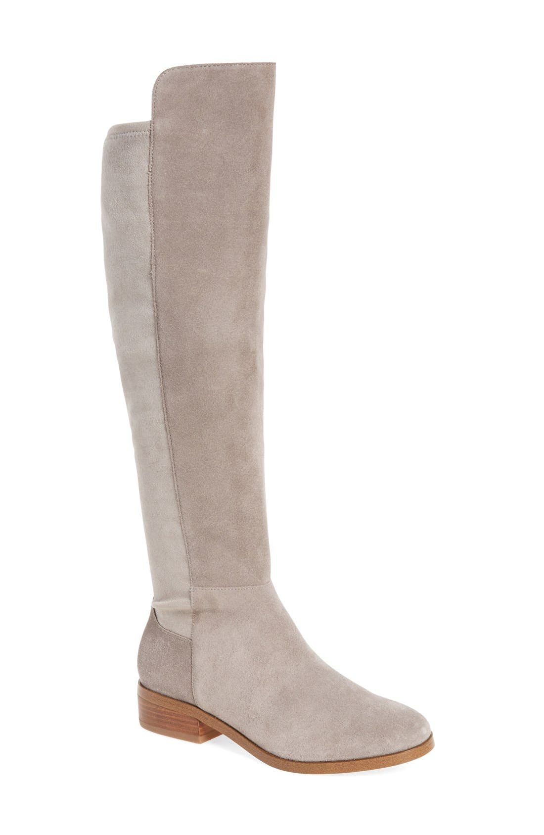 Calypso Over the Knee Boot,                             Main thumbnail 1, color,                             MUSHROOM SUEDE