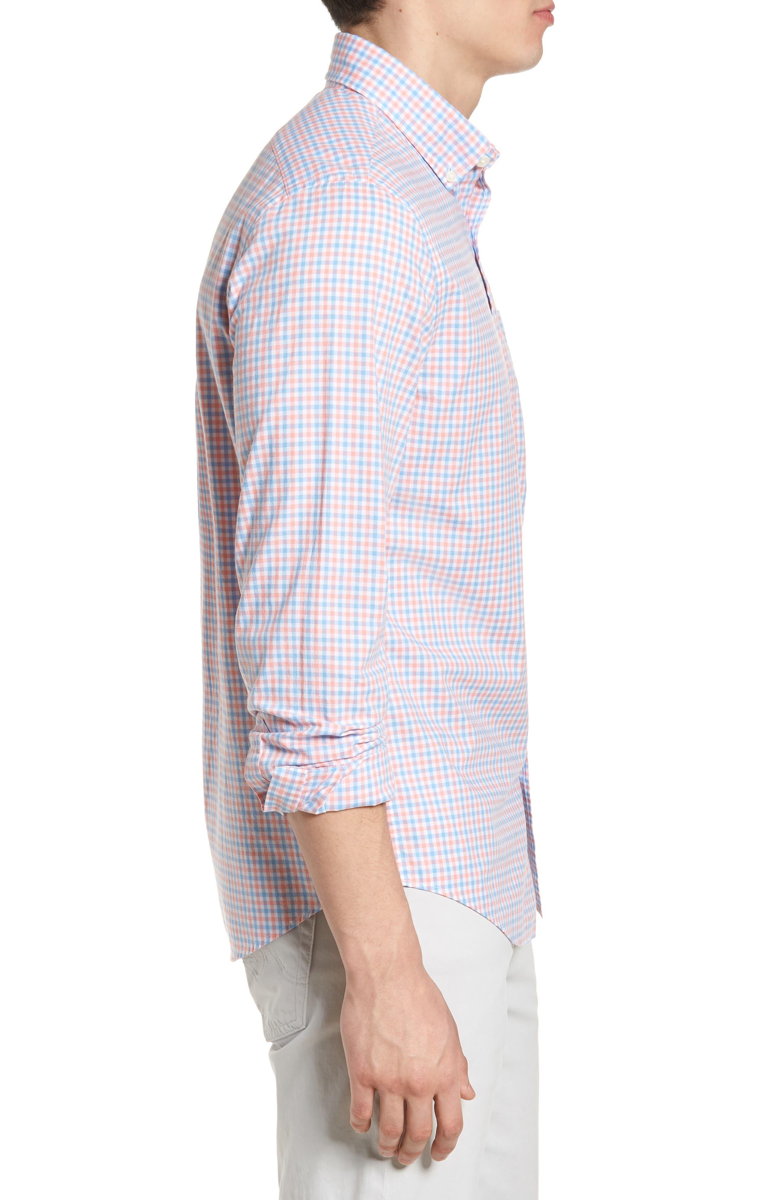 Tipsy Turtle Check Slim Fit Sport Shirt,                             Alternate thumbnail 9, color,