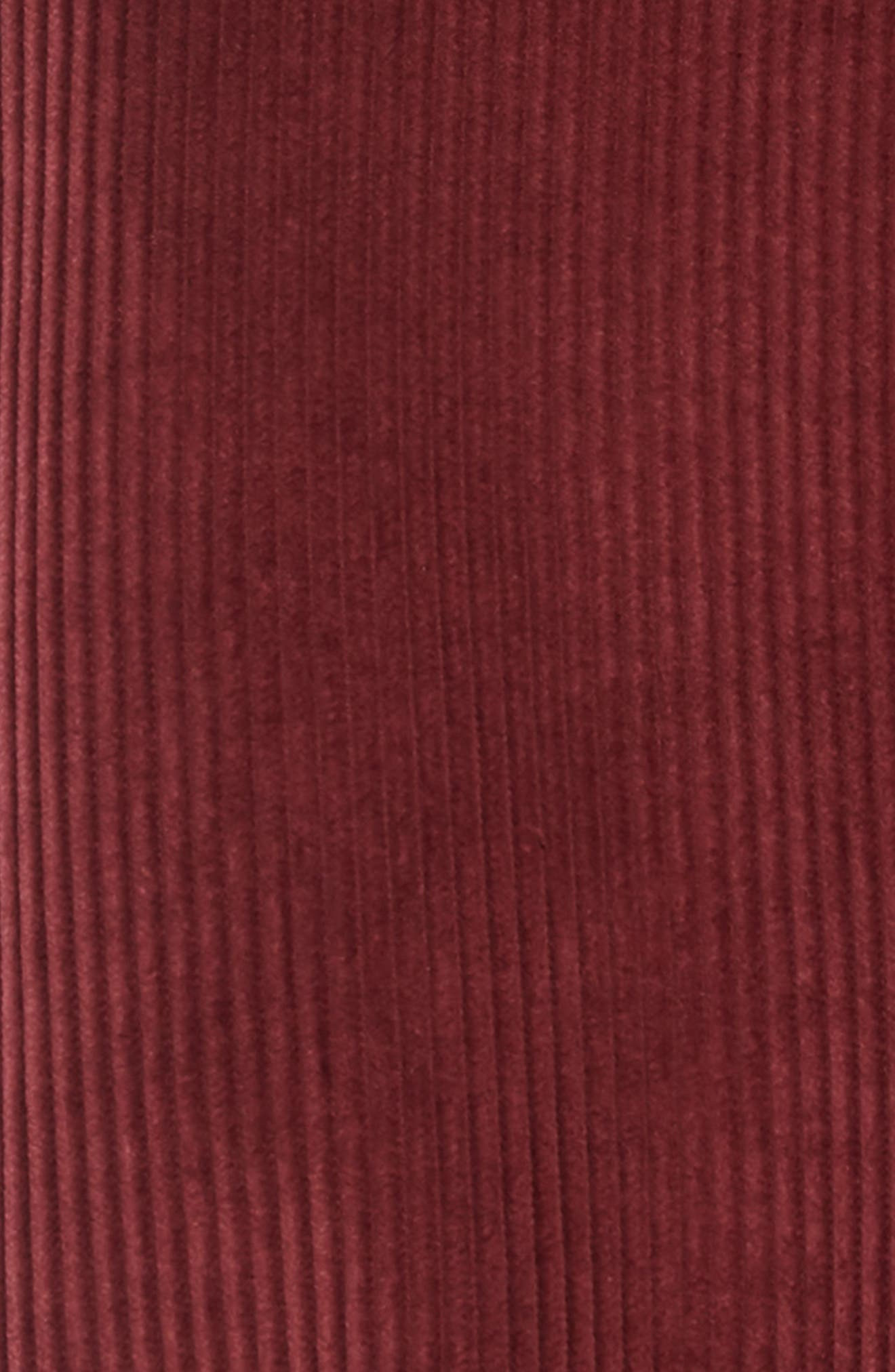 Corduroy Jumper Dress,                             Alternate thumbnail 3, color,                             RED TANNIN