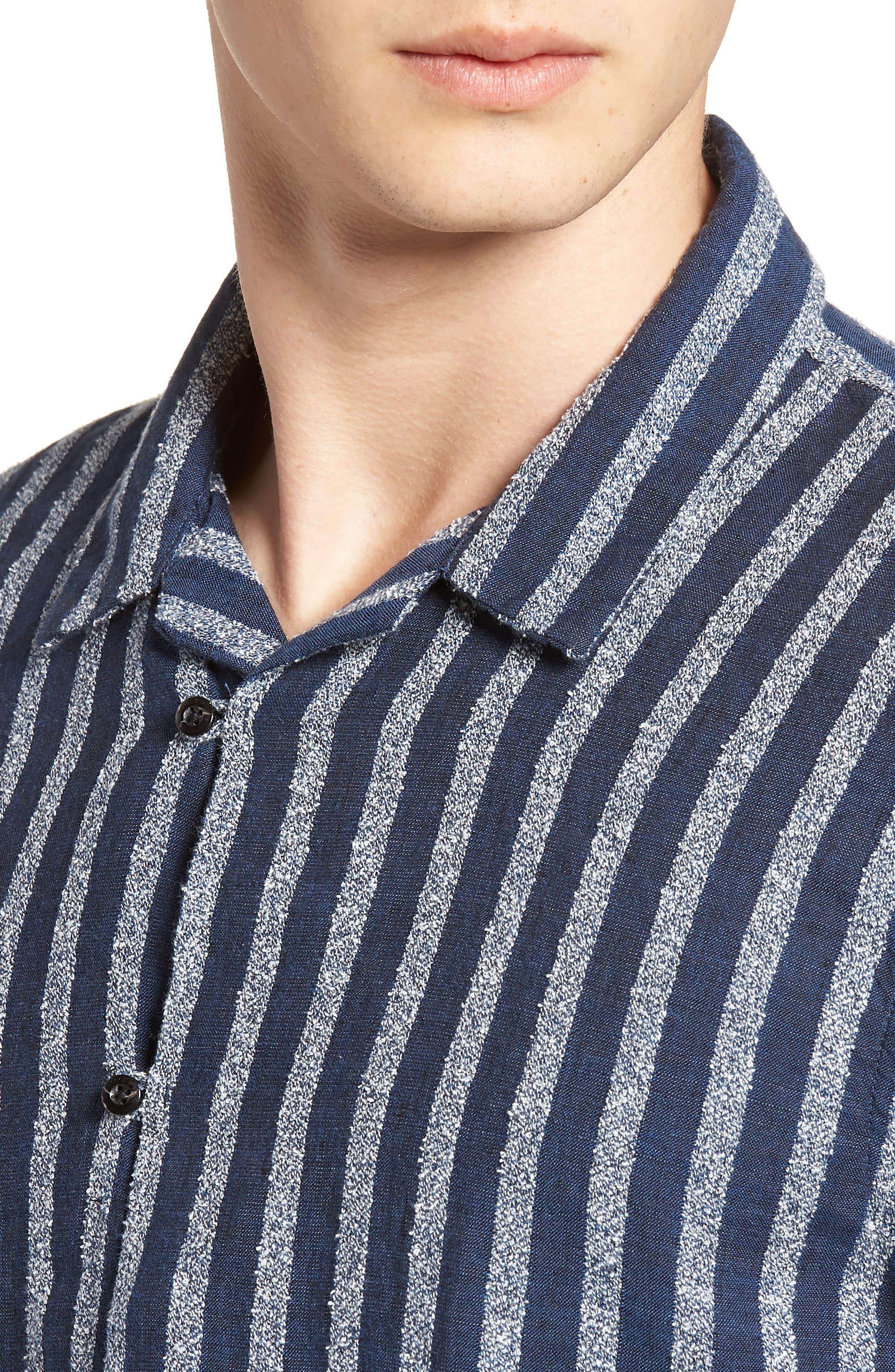 Stripe Woven Shirt,                             Alternate thumbnail 4, color,                             100