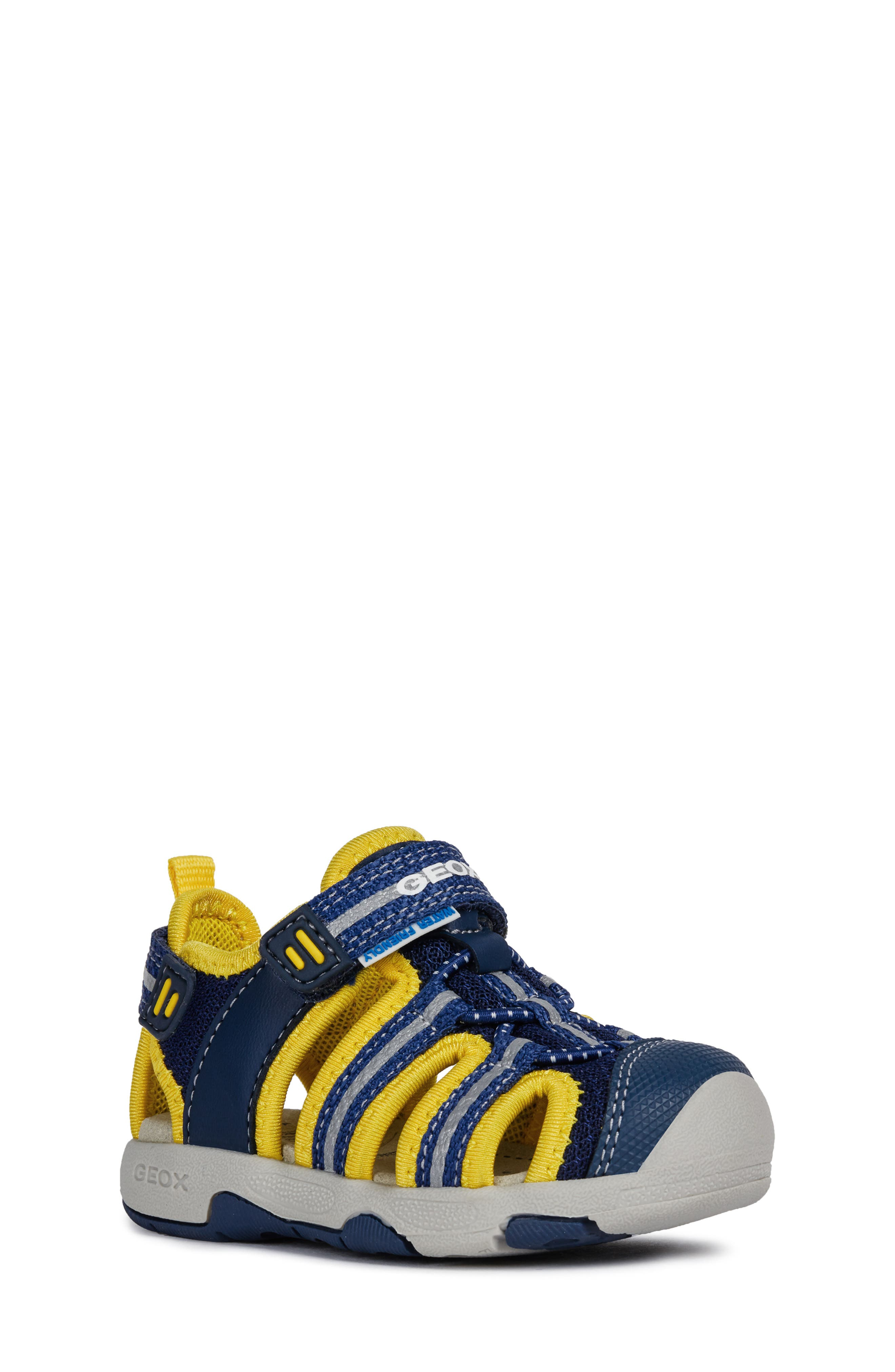 Multy Water Friendly Sandal, Main, color, NAVY/ YELLOW