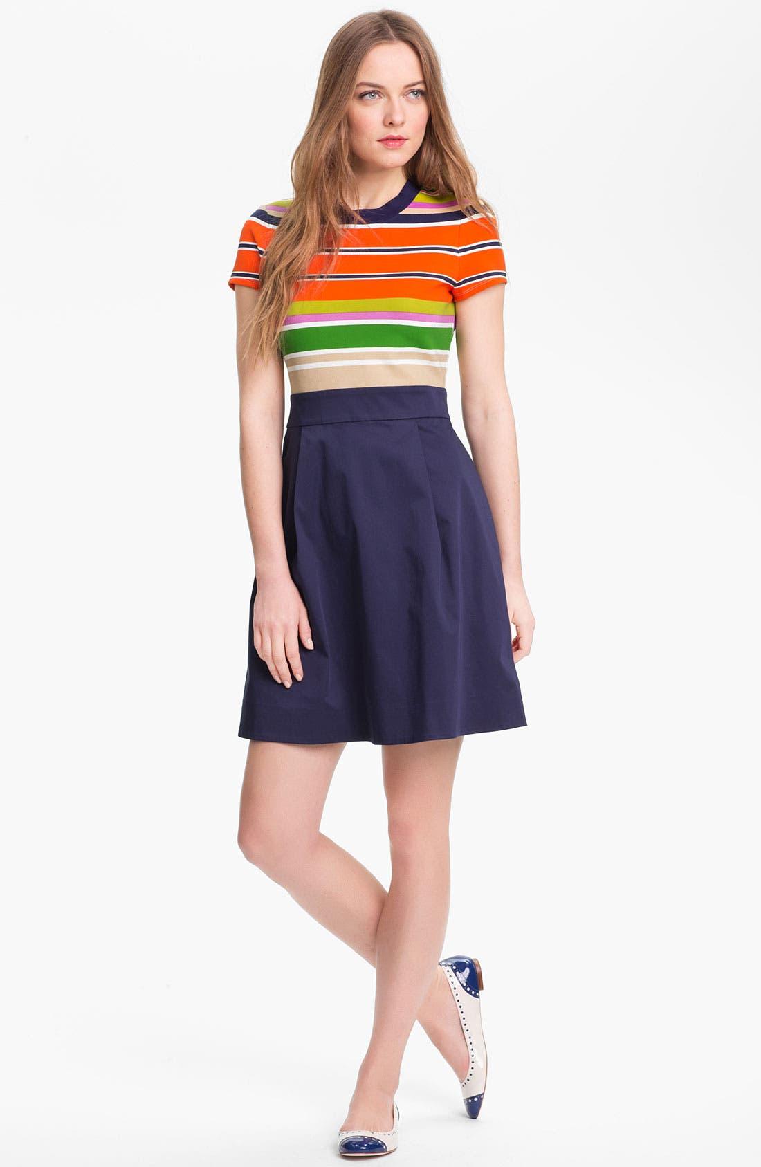 'jessica' stretch a-line dress, Main, color, 800