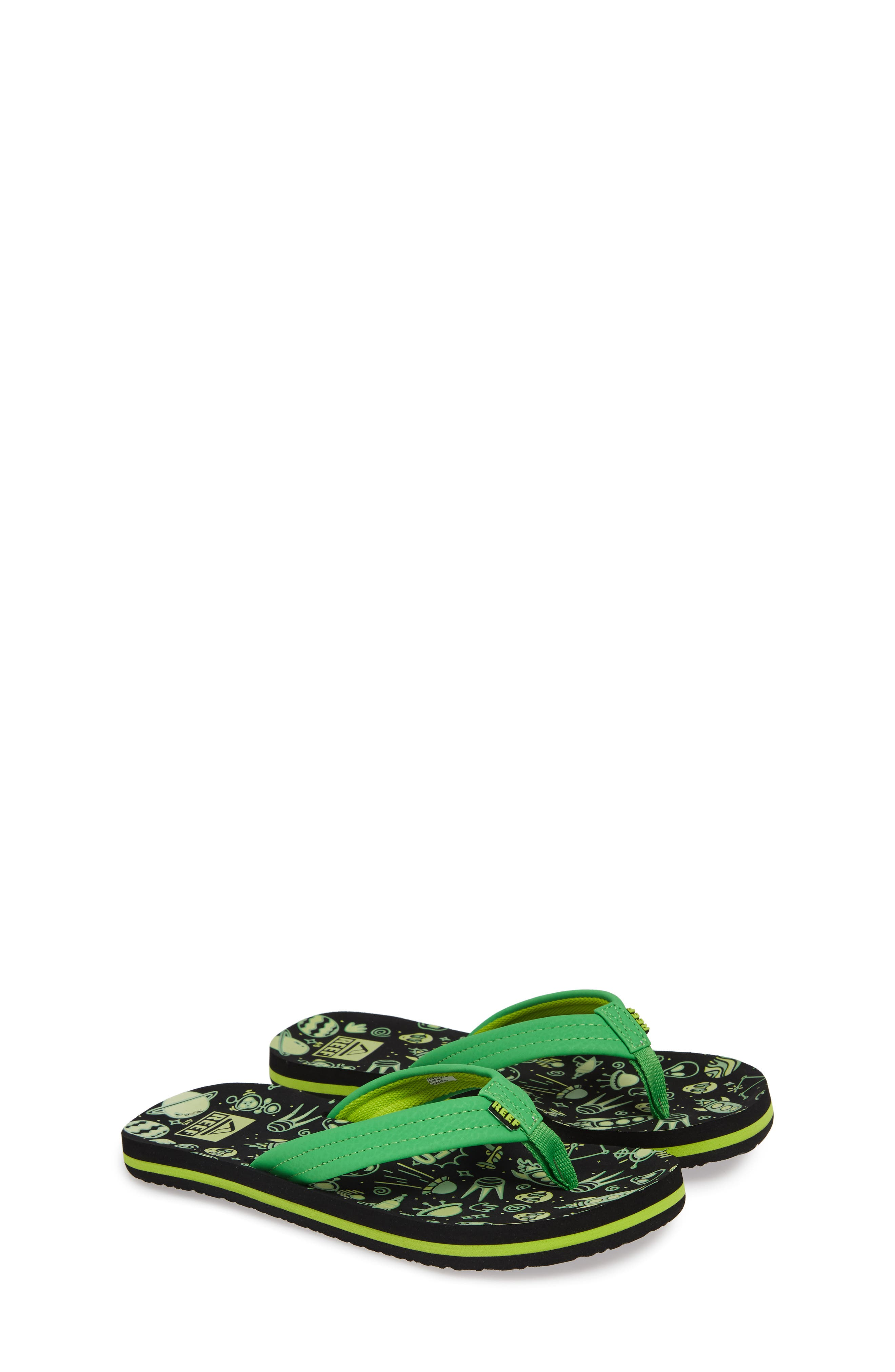 Ahi Glow in the Dark Flip Flop,                             Alternate thumbnail 2, color,                             GREEN
