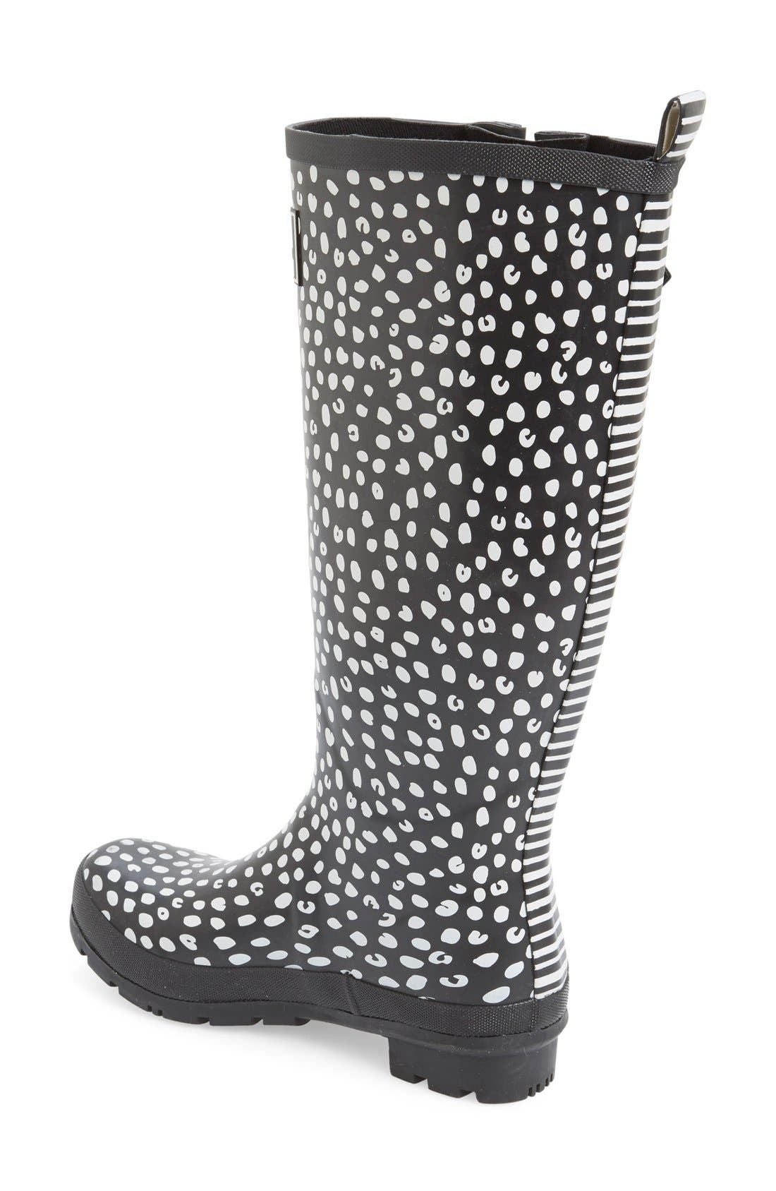 'Welly' Print Rain Boot,                             Alternate thumbnail 45, color,