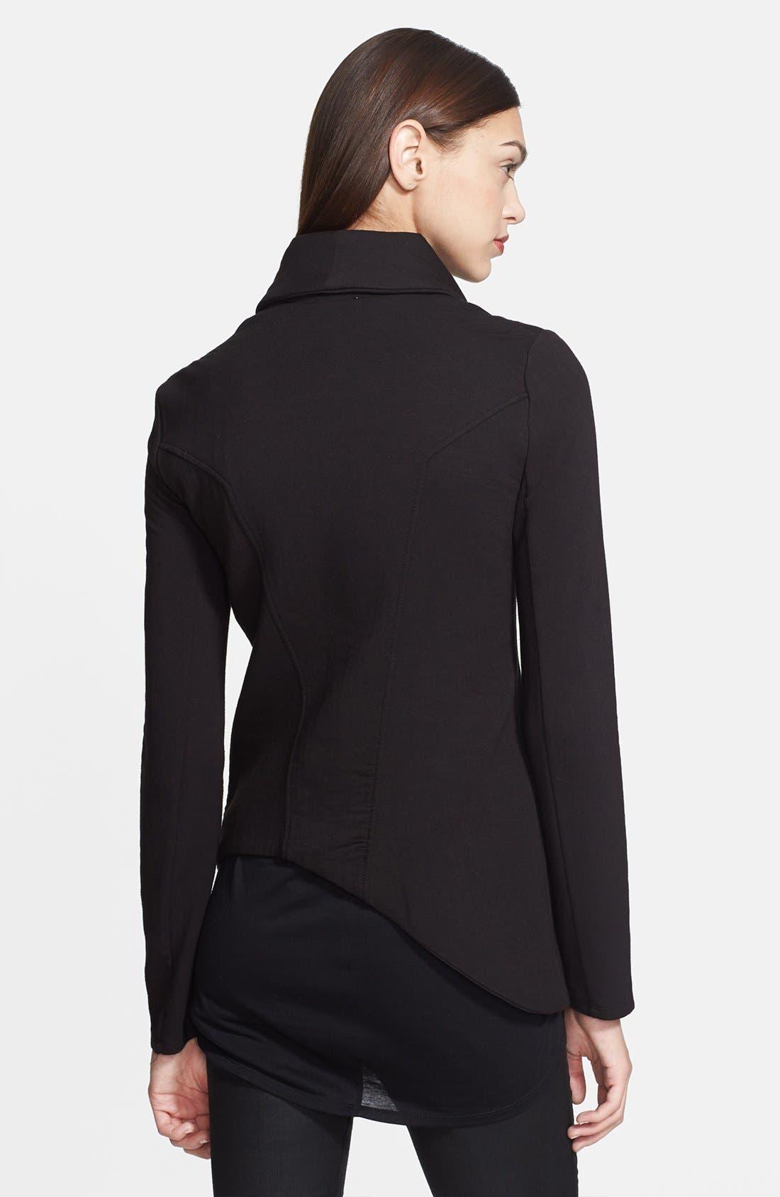 'Villous' Zip Front Sweatshirt,                             Alternate thumbnail 2, color,                             001