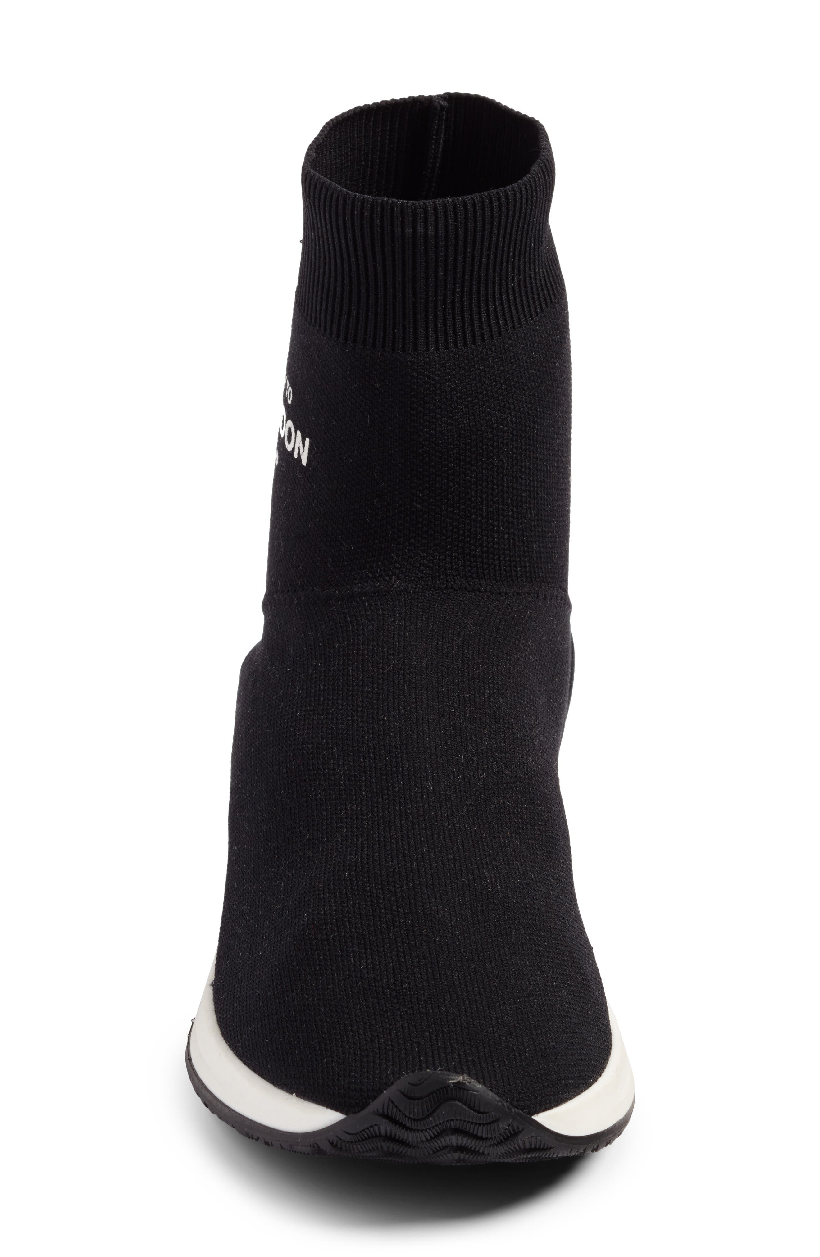 Fly To High Top Sock Sneaker,                             Alternate thumbnail 4, color,                             002