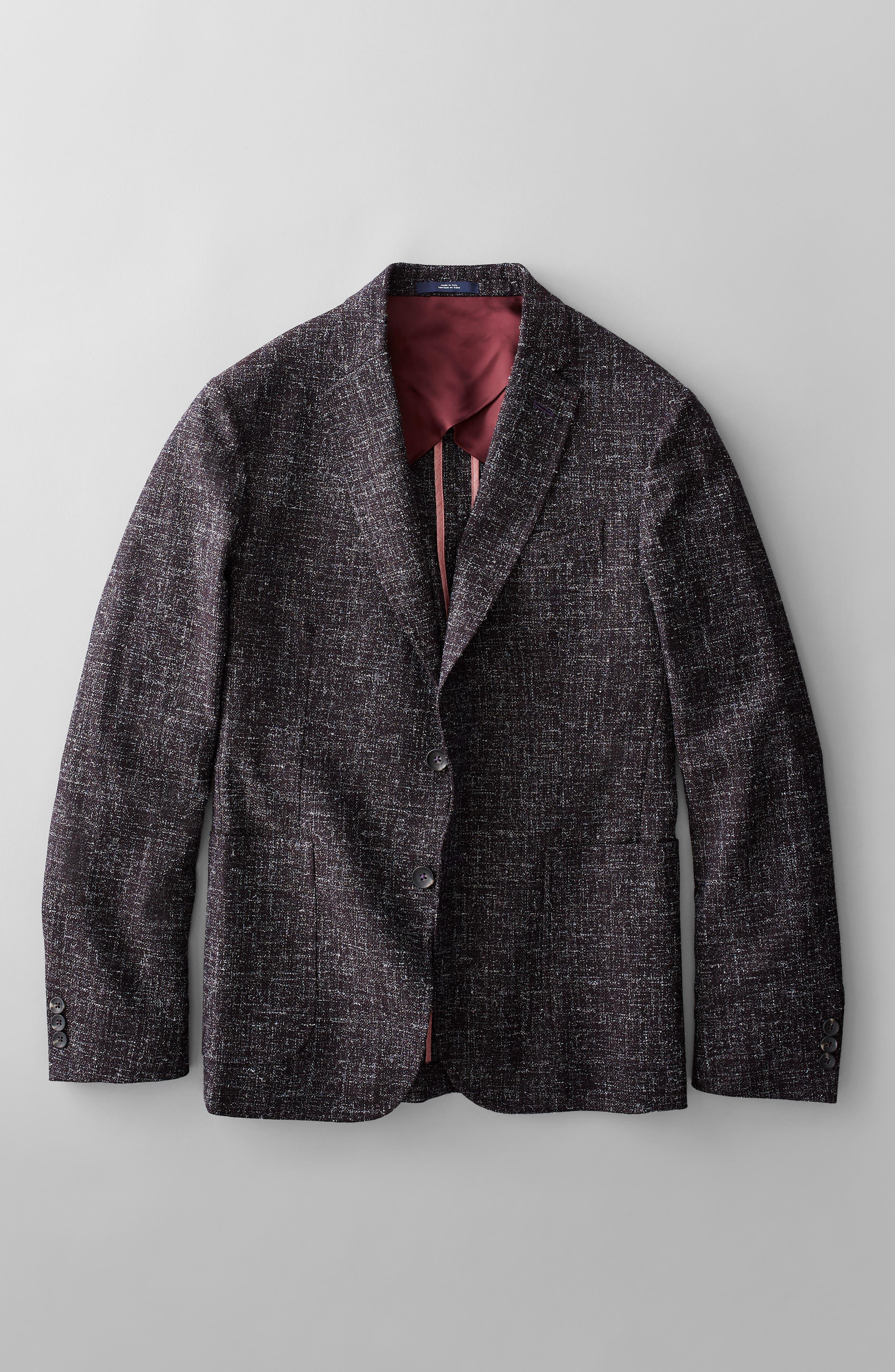 1901,                             Extra Trim Fit Wool Blend Sport Coat,                             Alternate thumbnail 7, color,                             001