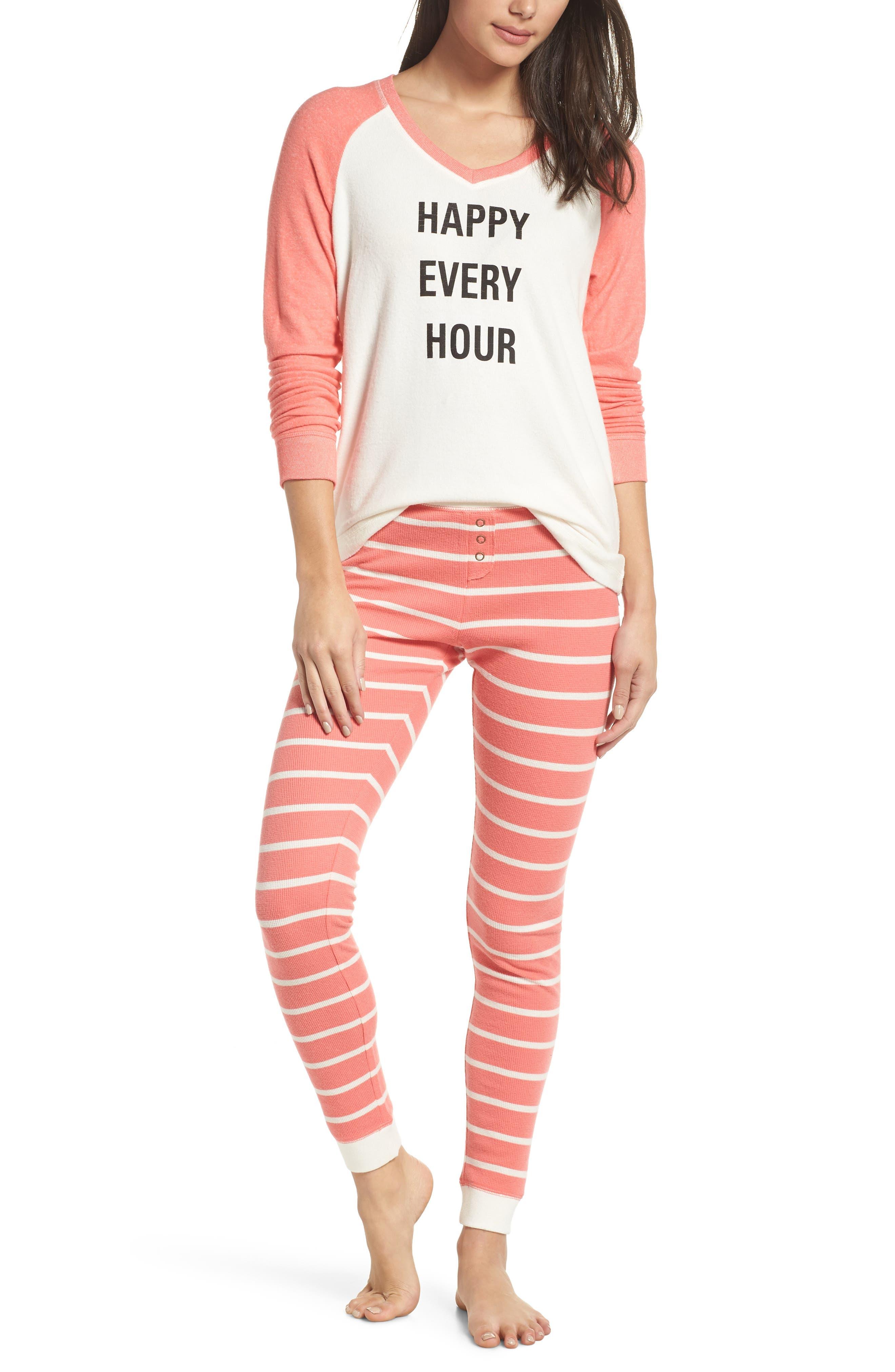 Make + Model Holiday Pajamas, Coral