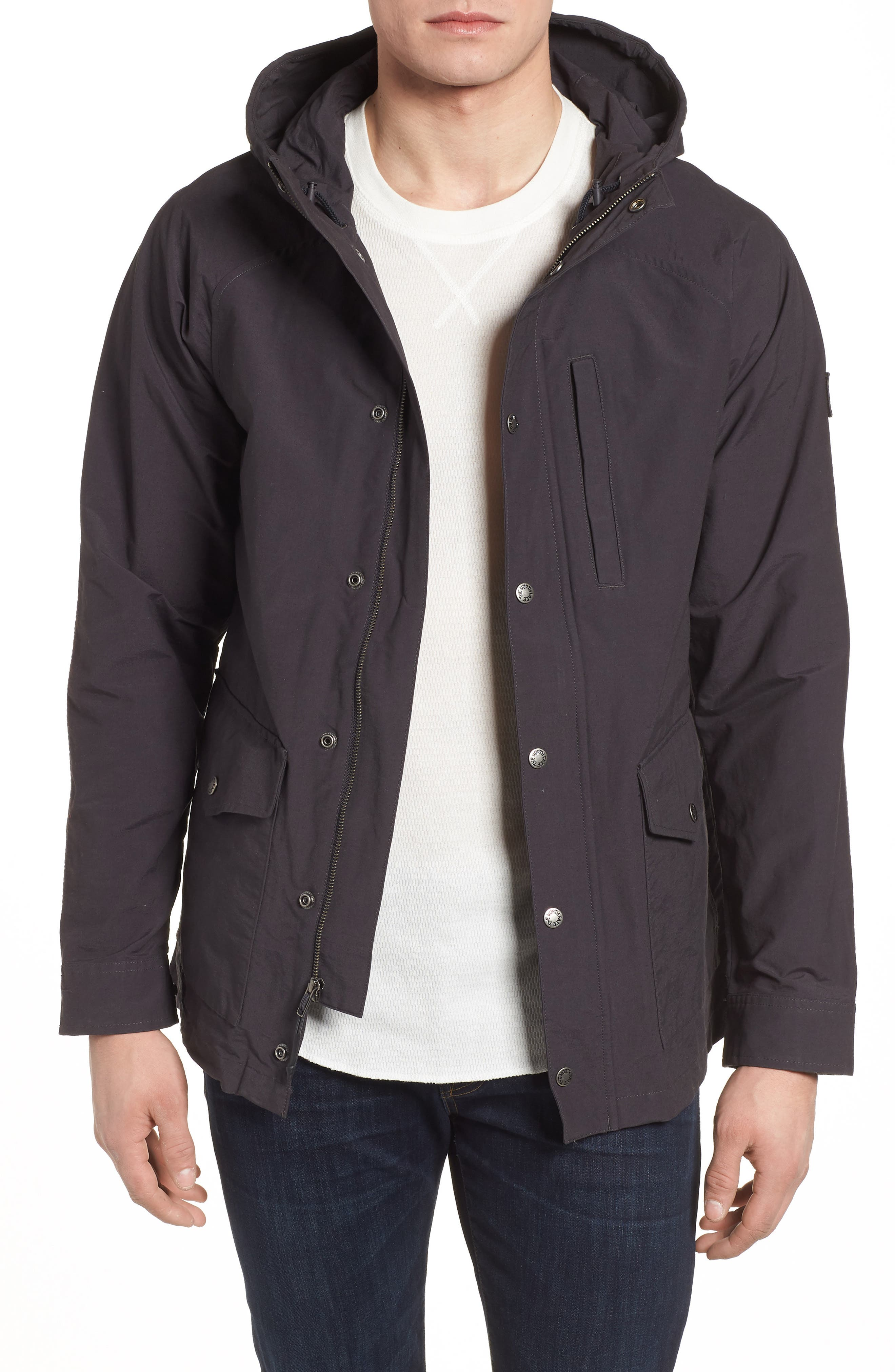 Waxed Canvas Utility Jacket,                         Main,                         color, 001
