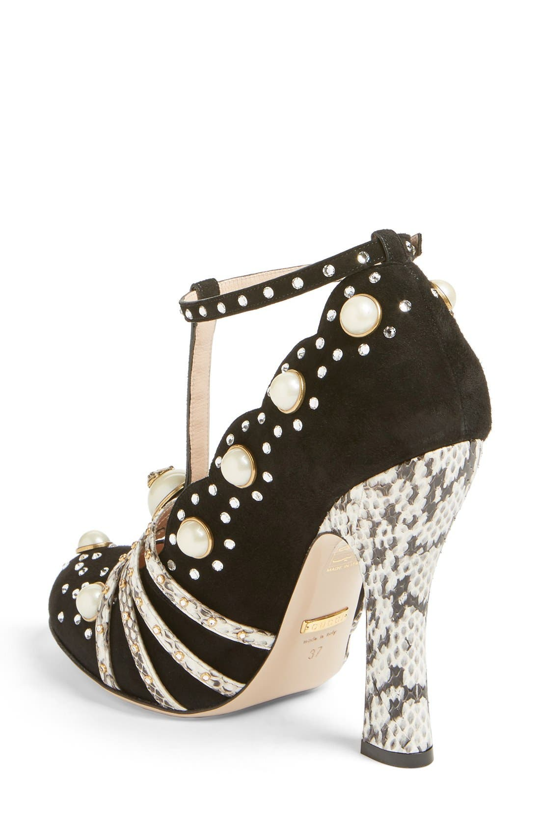 Ofelia Pearly Crystal Embellished Pump,                             Alternate thumbnail 2, color,                             001