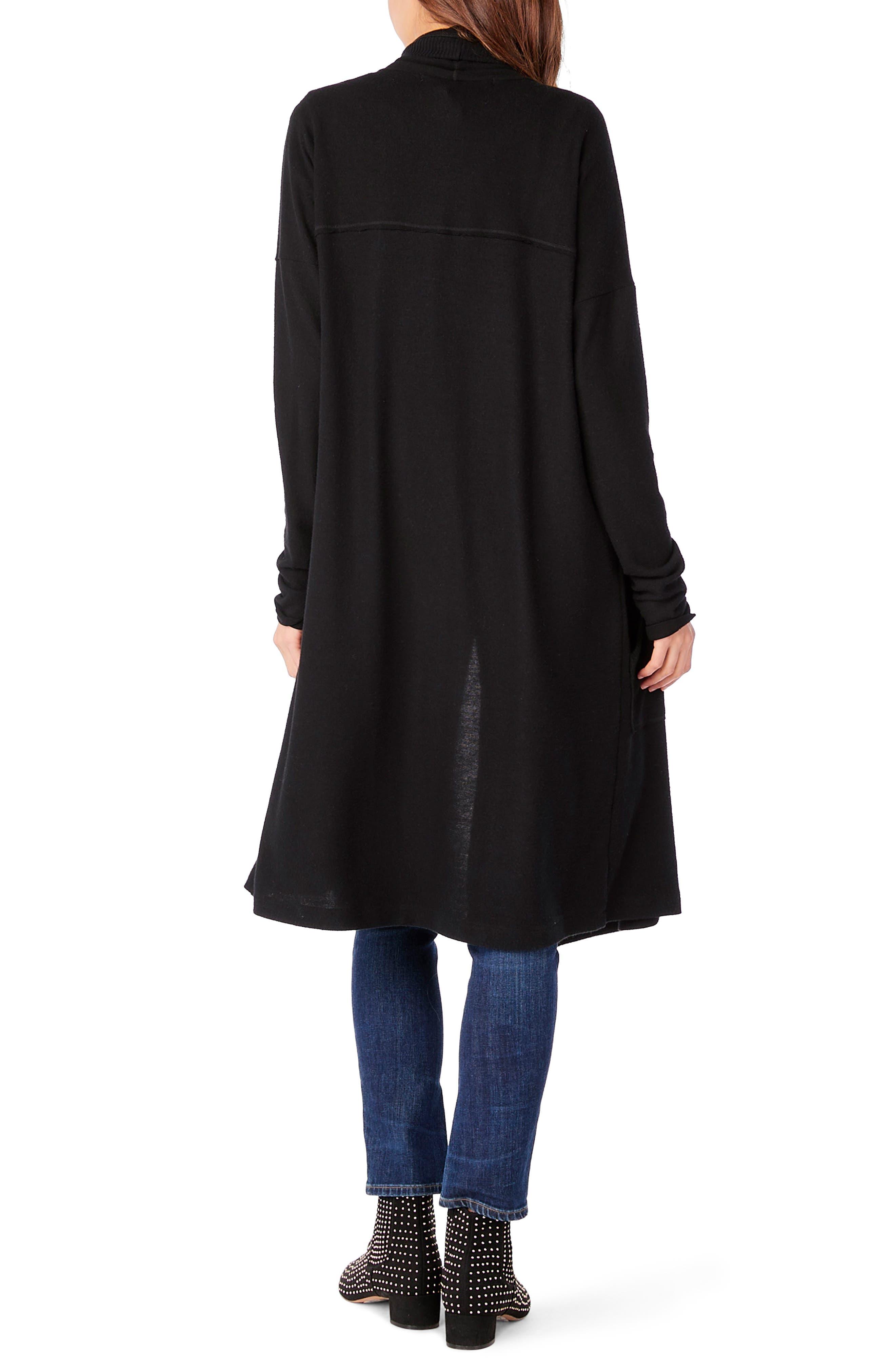 Long Sleeve Shawl Collar Cardigan,                             Alternate thumbnail 2, color,                             001