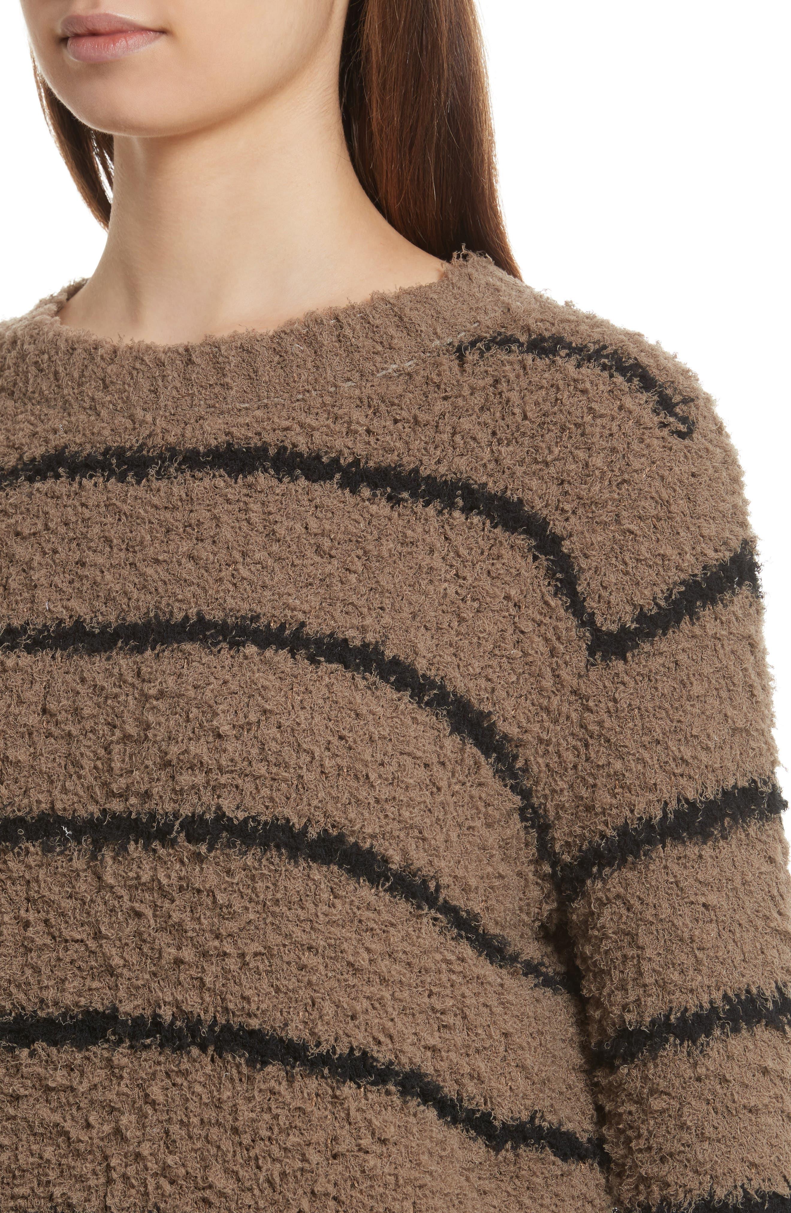 Fuzzy Stripe Sweater,                             Alternate thumbnail 4, color,                             313