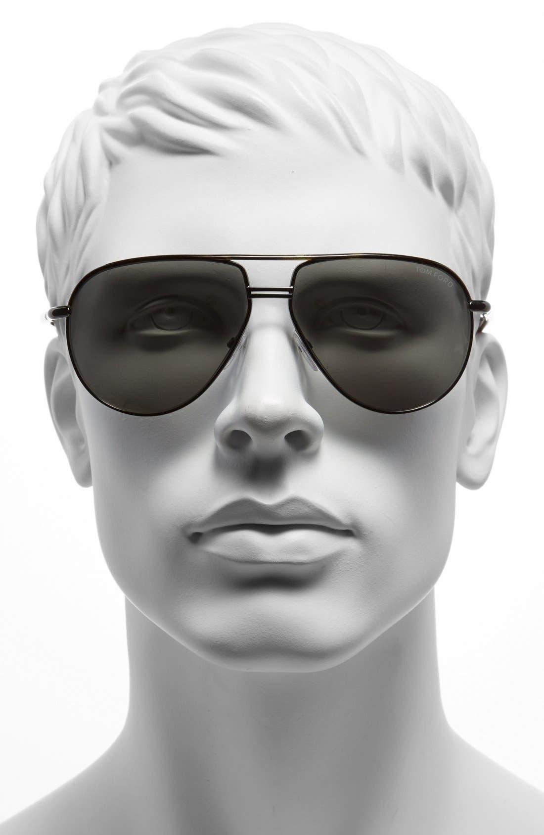 Cole 61mm Sunglasses,                             Alternate thumbnail 2, color,                             GUNMETAL/ DARK HAVANNA