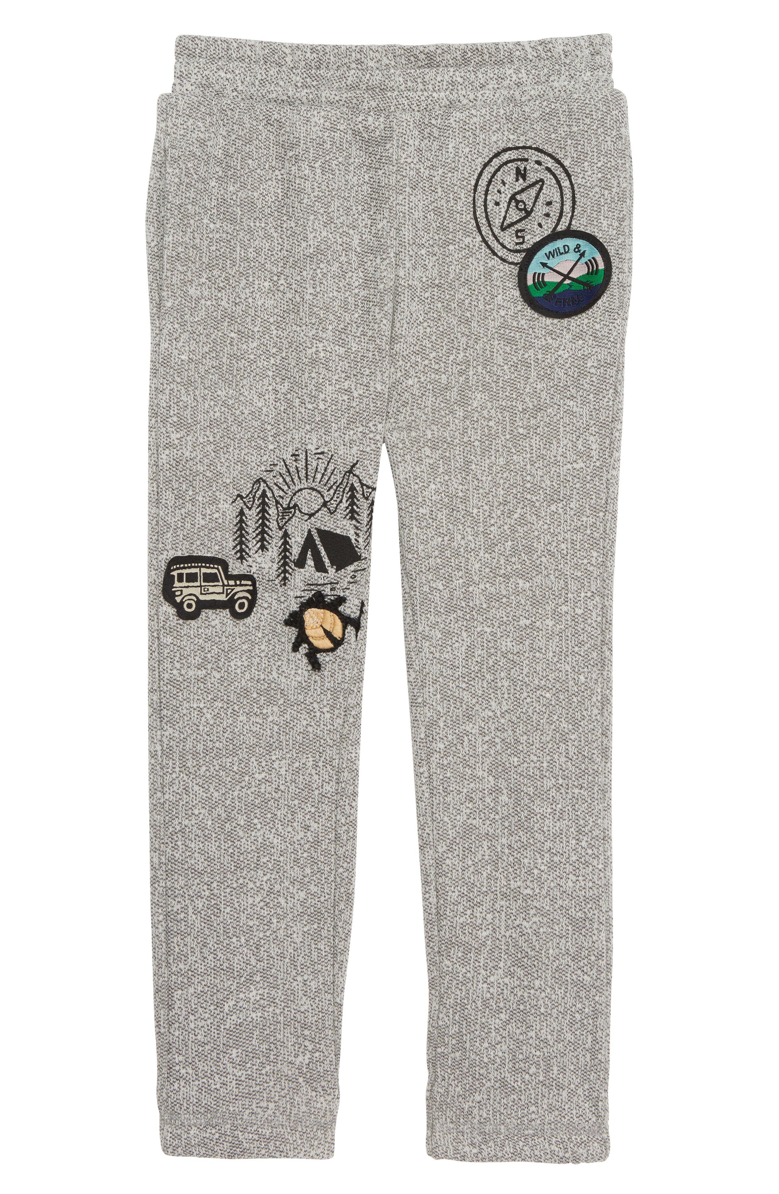 Mason Knit Jogger Pants,                             Main thumbnail 1, color,                             GREY HEATHER