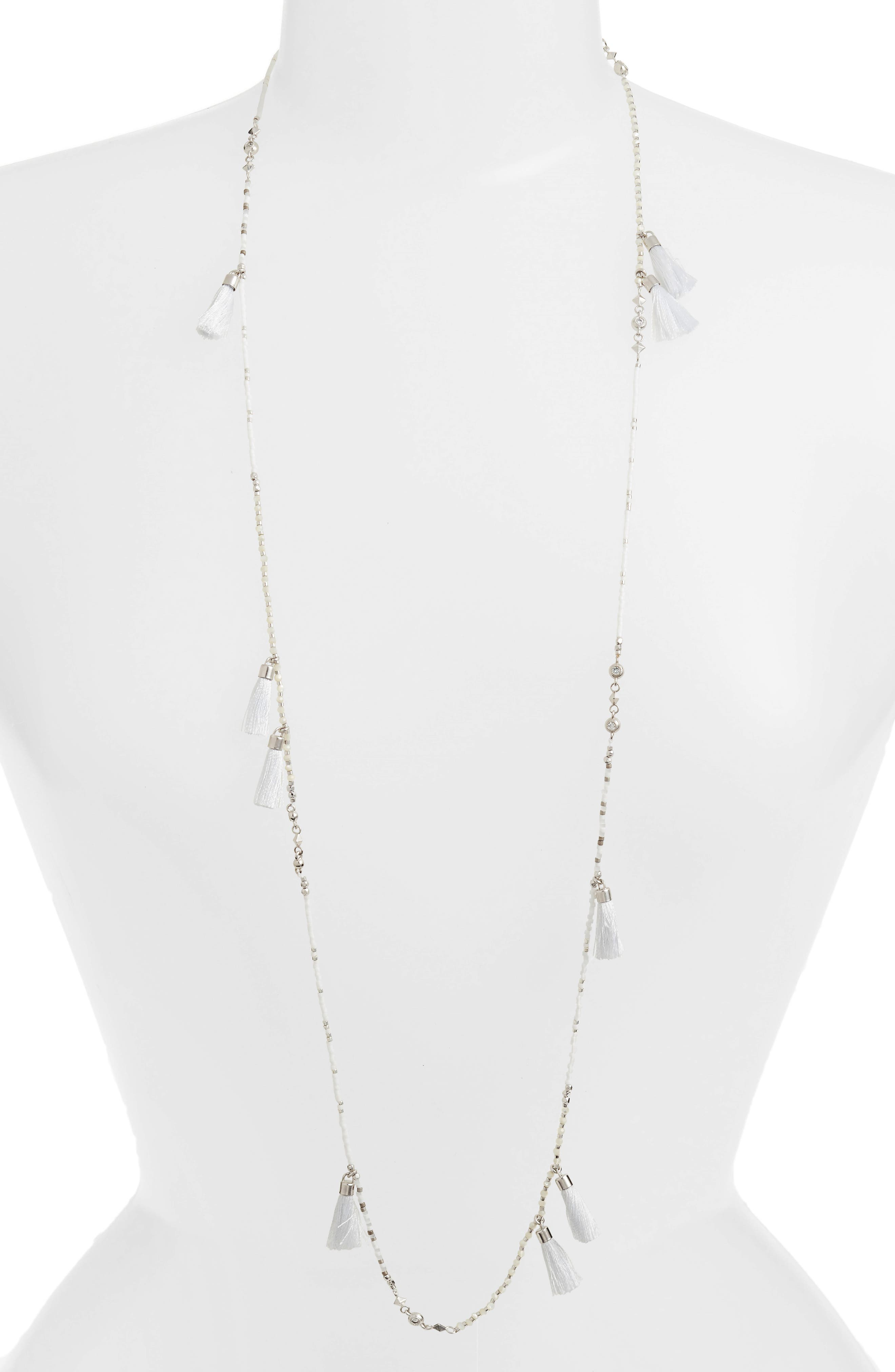 Augusta Tassel Necklace,                         Main,                         color, 100