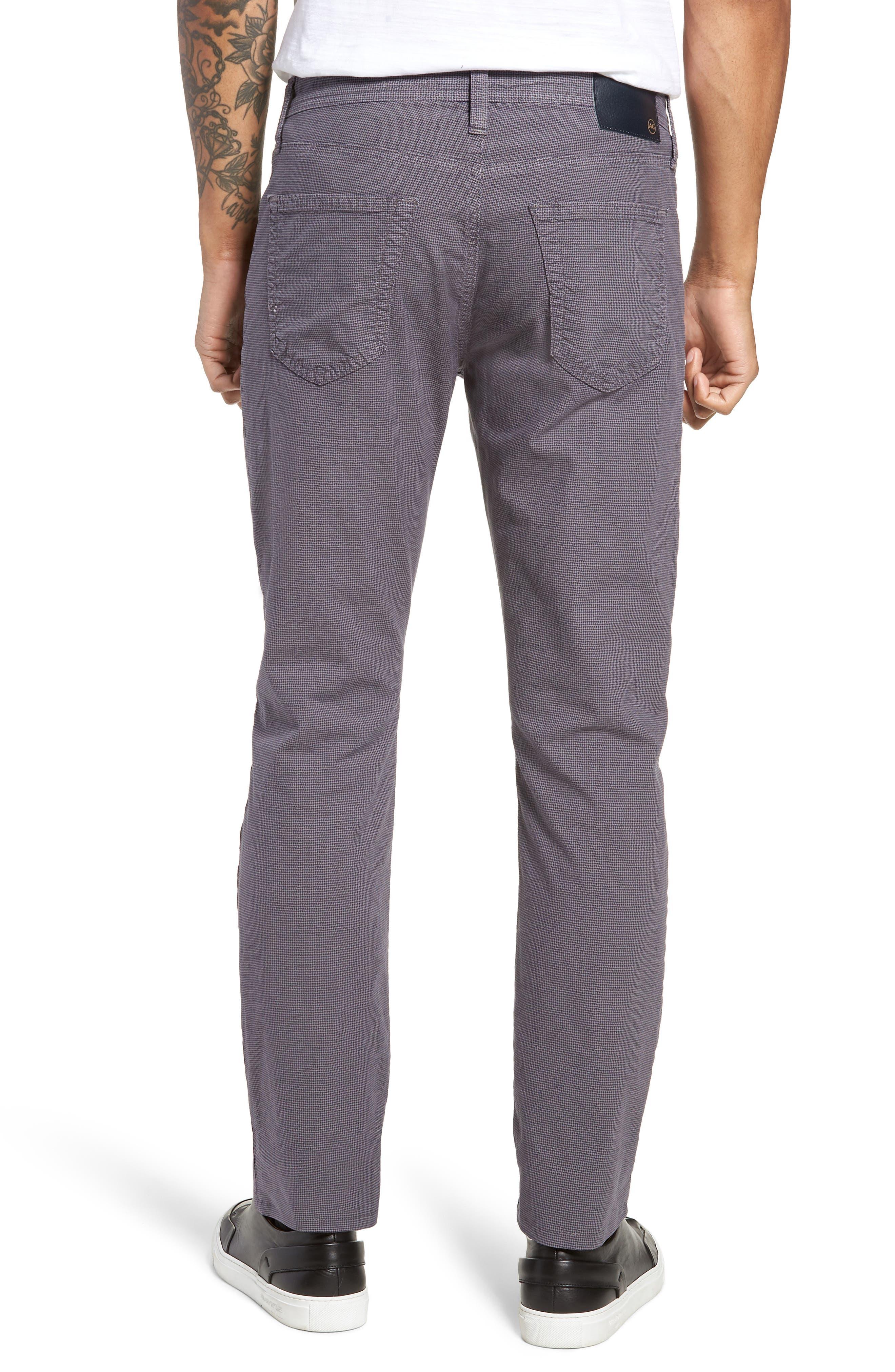 Everett Houndstooth Slim Fit Pants,                             Alternate thumbnail 2, color,                             AUTUMN FOG