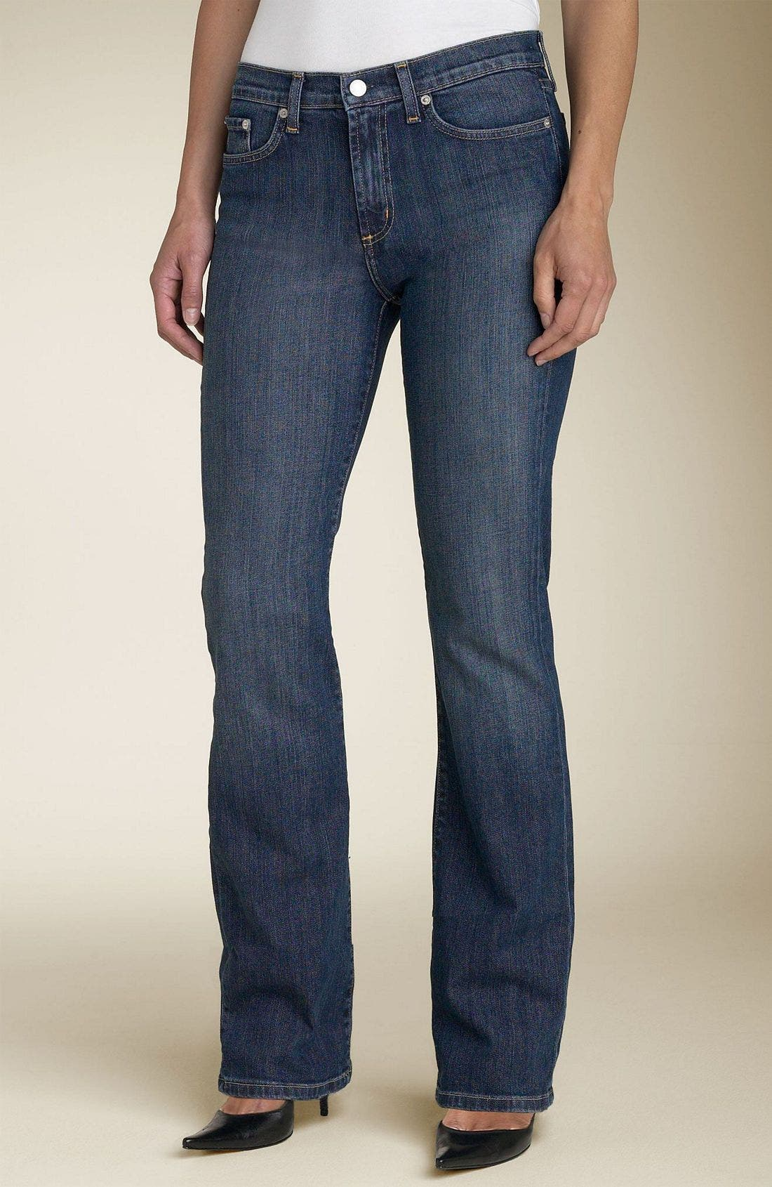 Five Pocket Stretch Jeans, Main, color, DDN