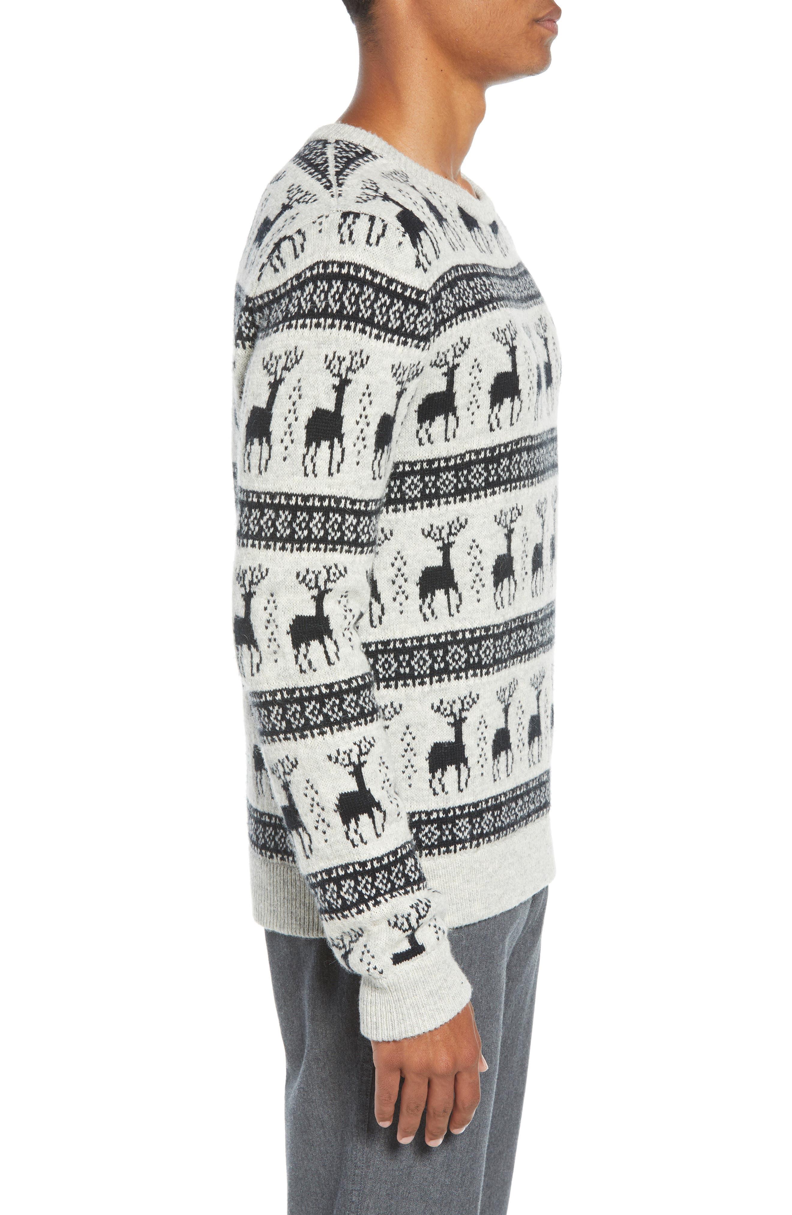 Cedar Slim Fit Crewneck Sweater,                             Alternate thumbnail 3, color,                             LIGHT HEATHER GREY