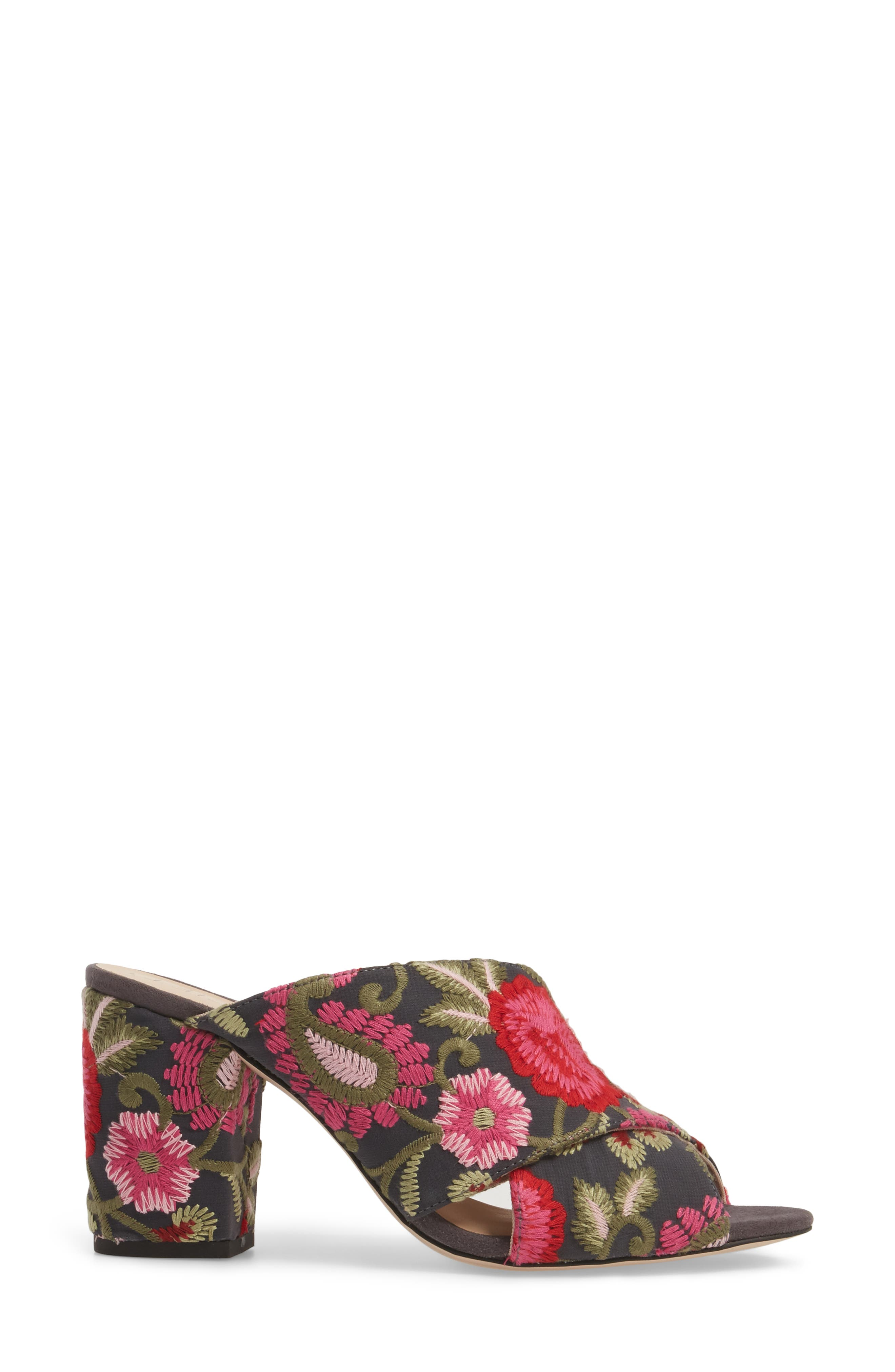 Luella Flower Embroidered Slide,                             Alternate thumbnail 22, color,