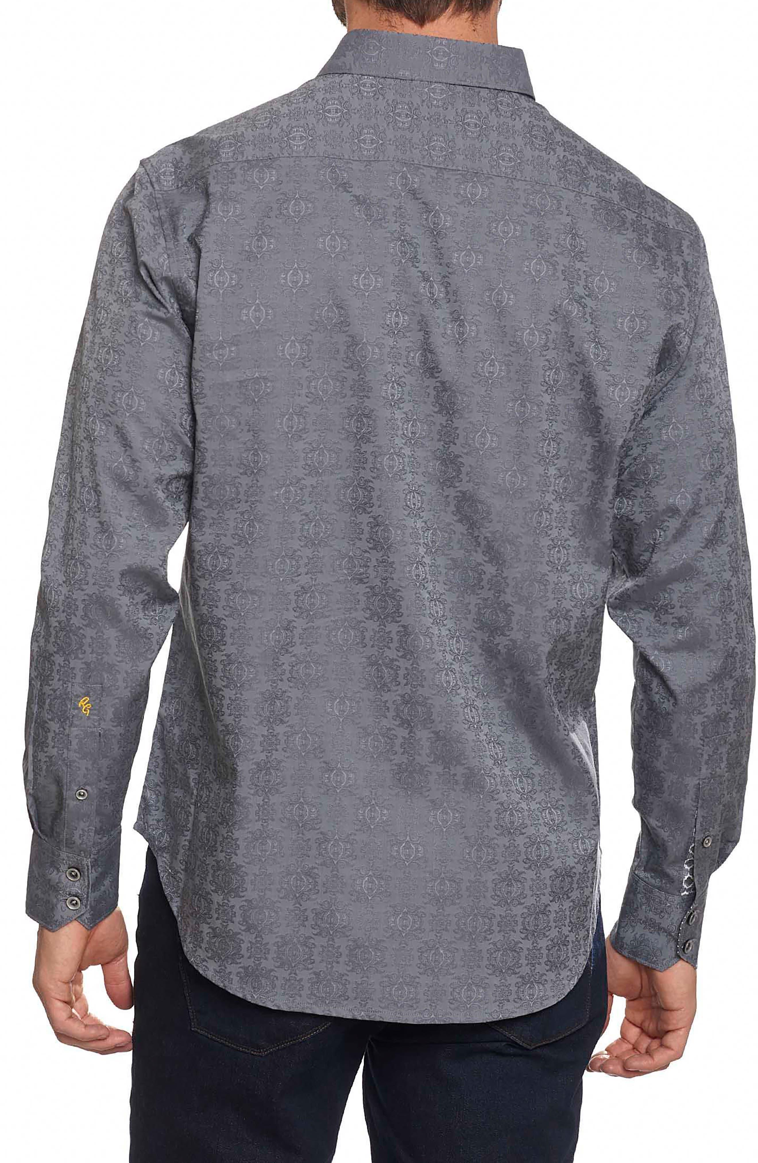 'Cullen' Classic Fit Jacquard Sport Shirt,                             Alternate thumbnail 2, color,                             020