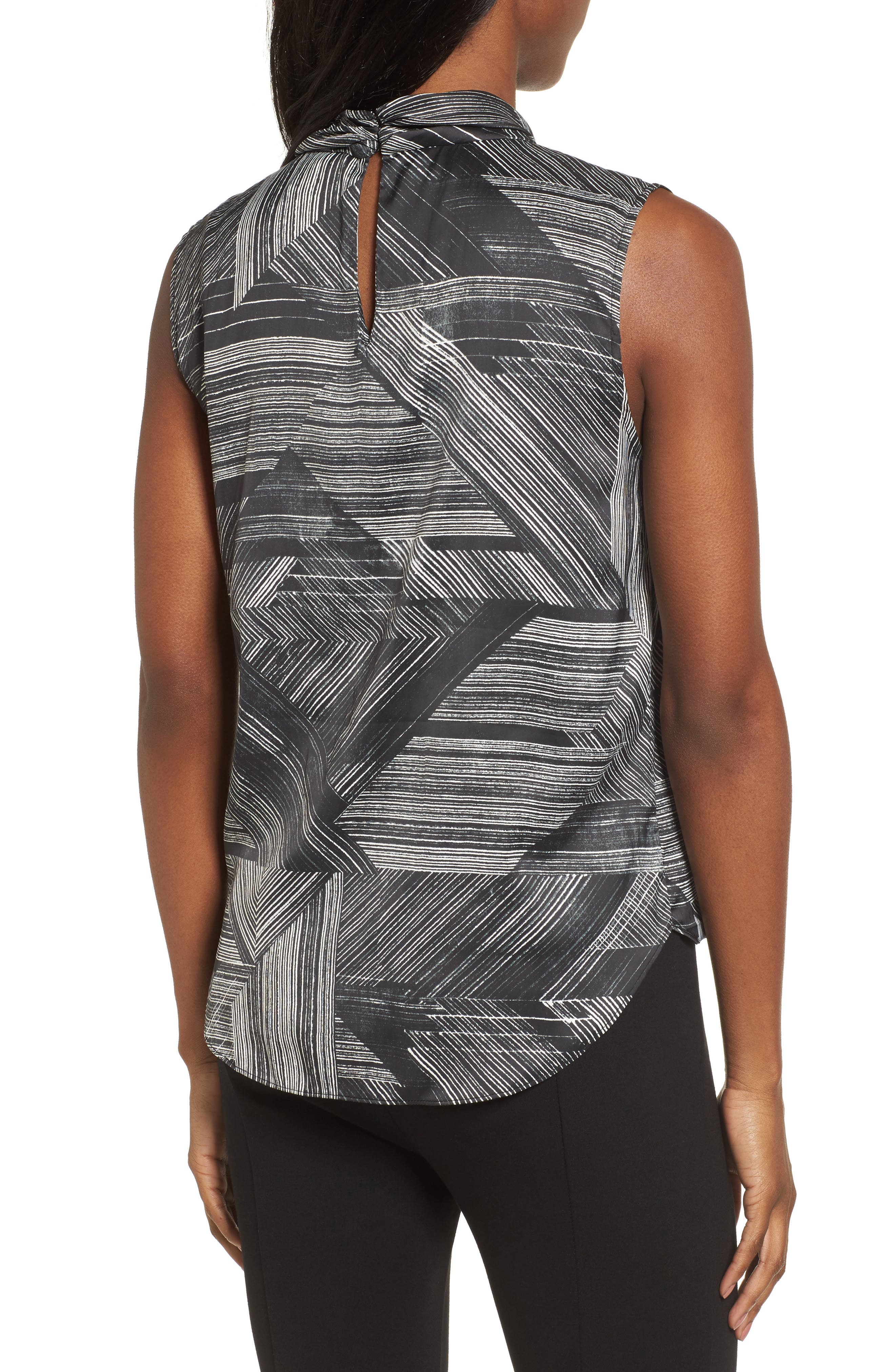 Faux Wrap Stripe Tank Top,                             Alternate thumbnail 2, color,                             004