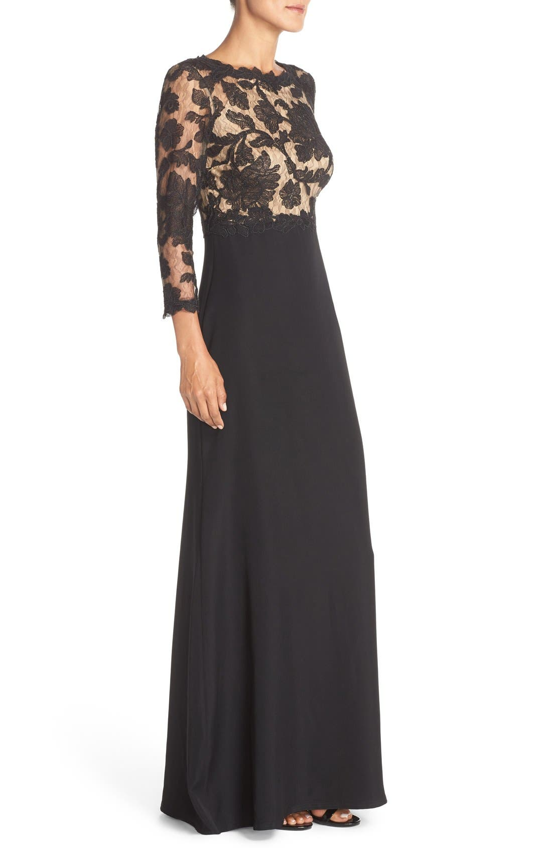Embroidered Lace Gown,                             Alternate thumbnail 10, color,