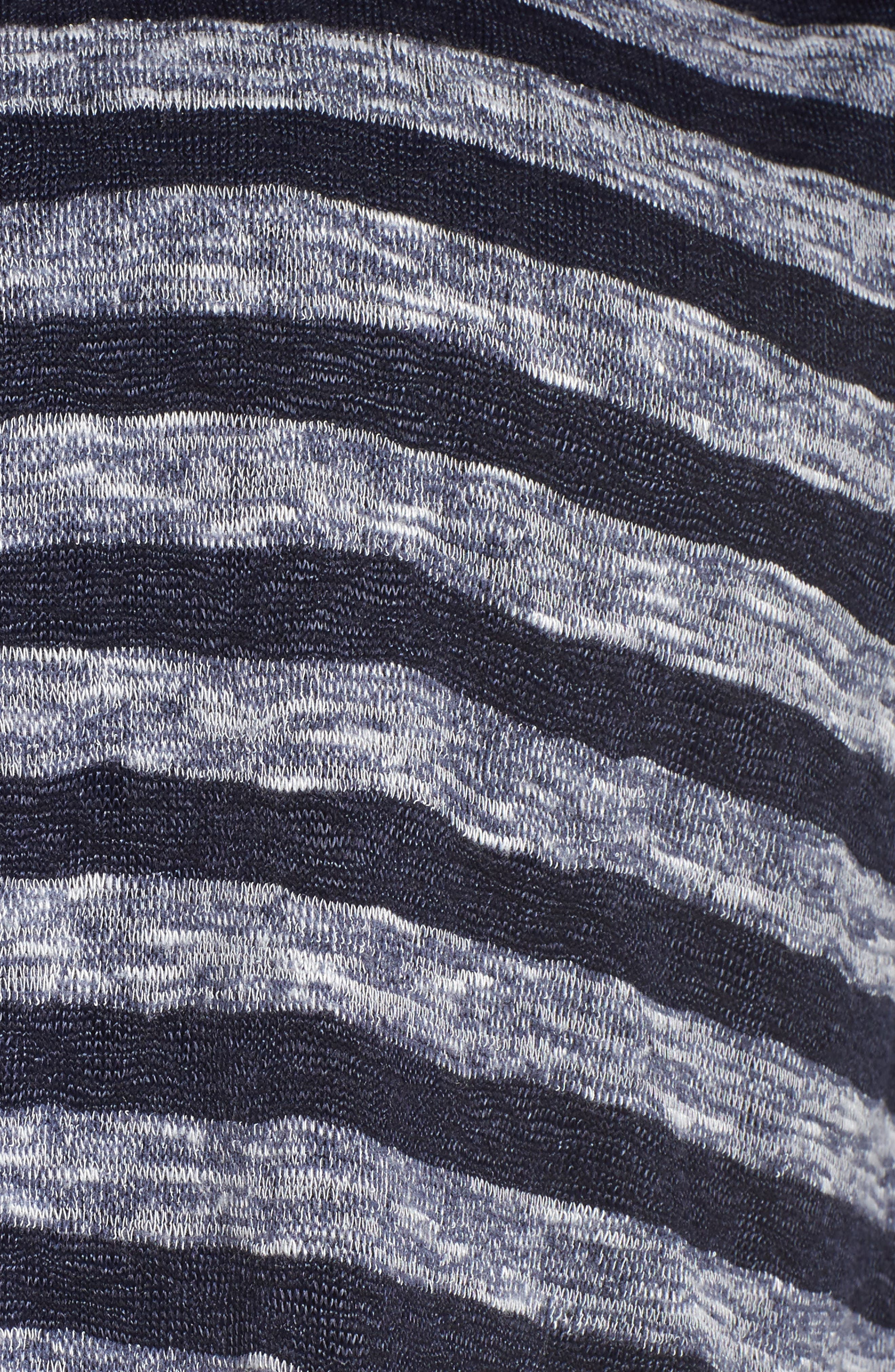 Uneven Stripe High/Low Tee,                             Alternate thumbnail 5, color,