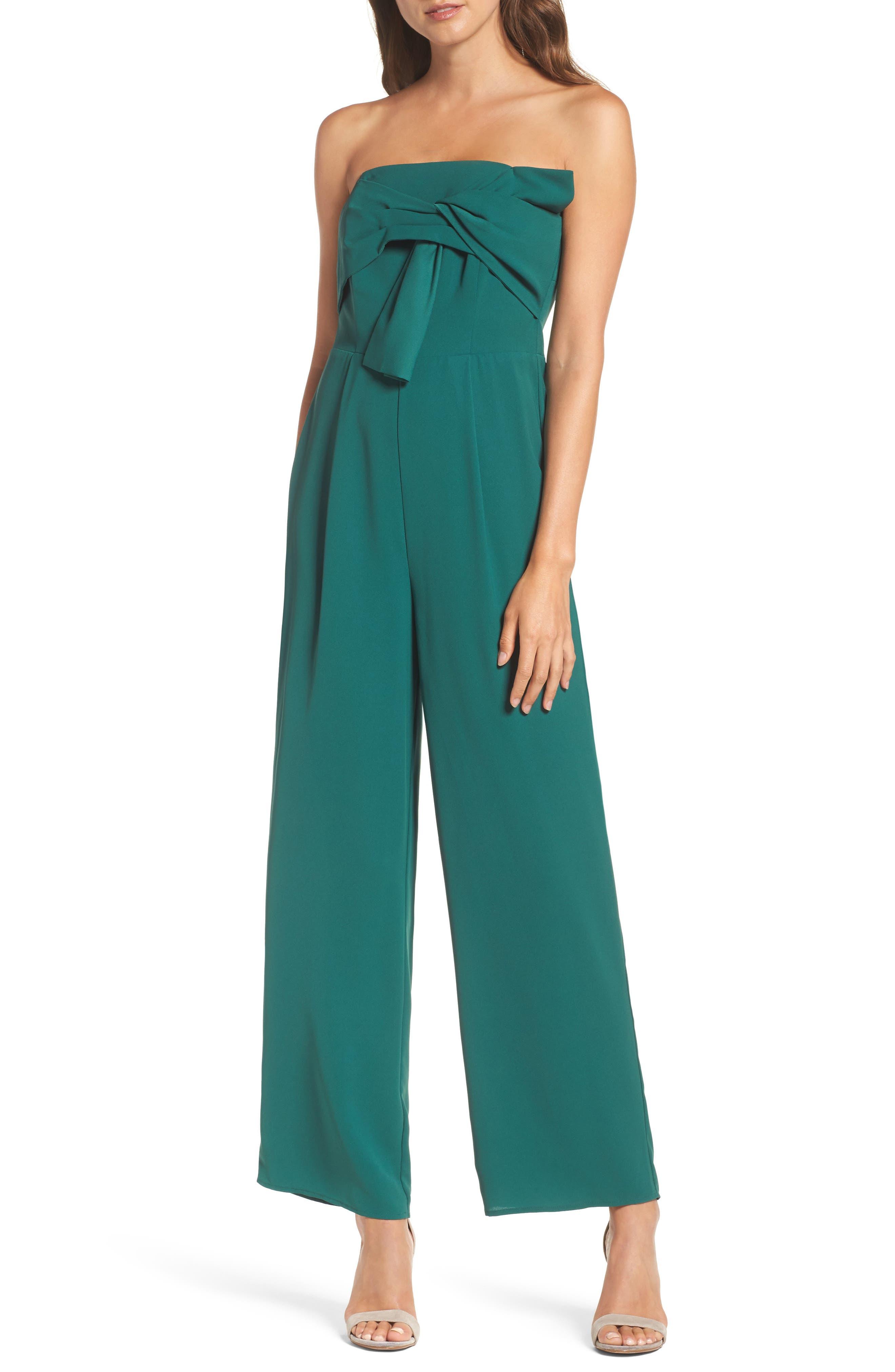 Strapless Crepe Jumpsuit,                         Main,                         color,