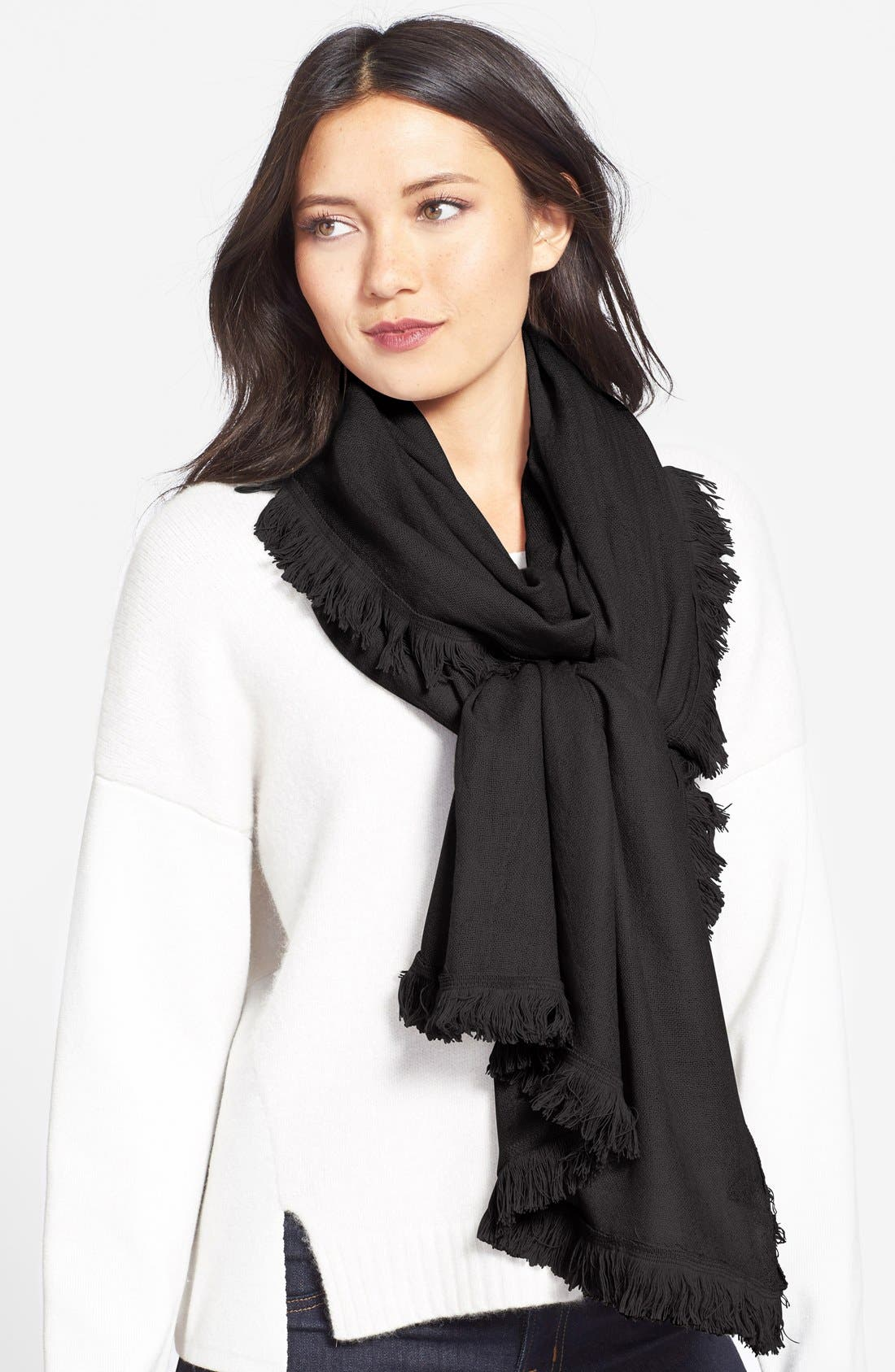 Wool & Cashmere Scarf,                             Main thumbnail 2, color,