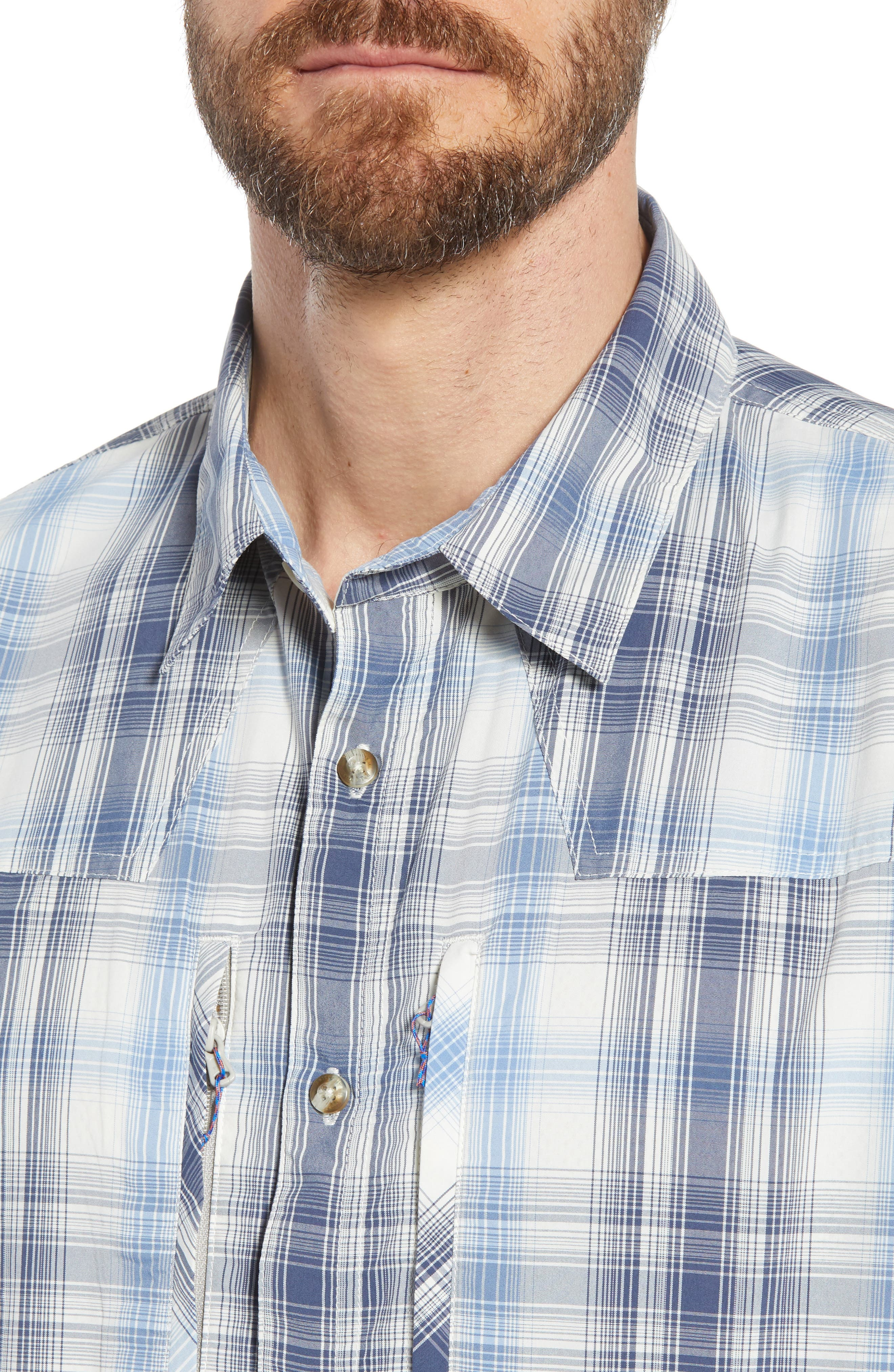 Regular Fit Plaid Sport Shirt,                             Alternate thumbnail 4, color,                             405