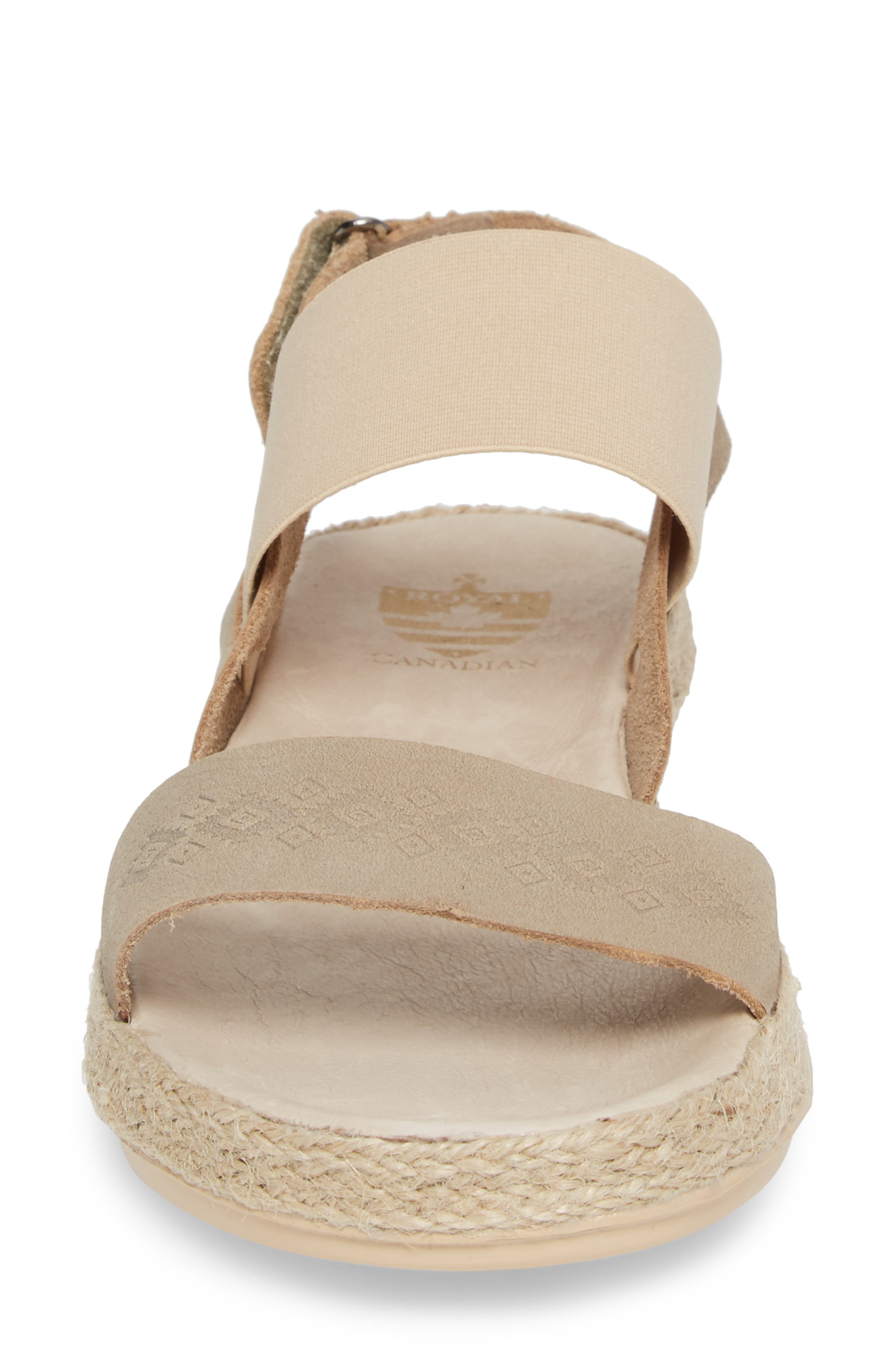 Tobermory Sandal,                             Alternate thumbnail 4, color,                             TAUPE LEATHER